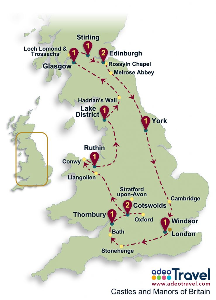 Castles And Manors Of Britain Adeo Travel