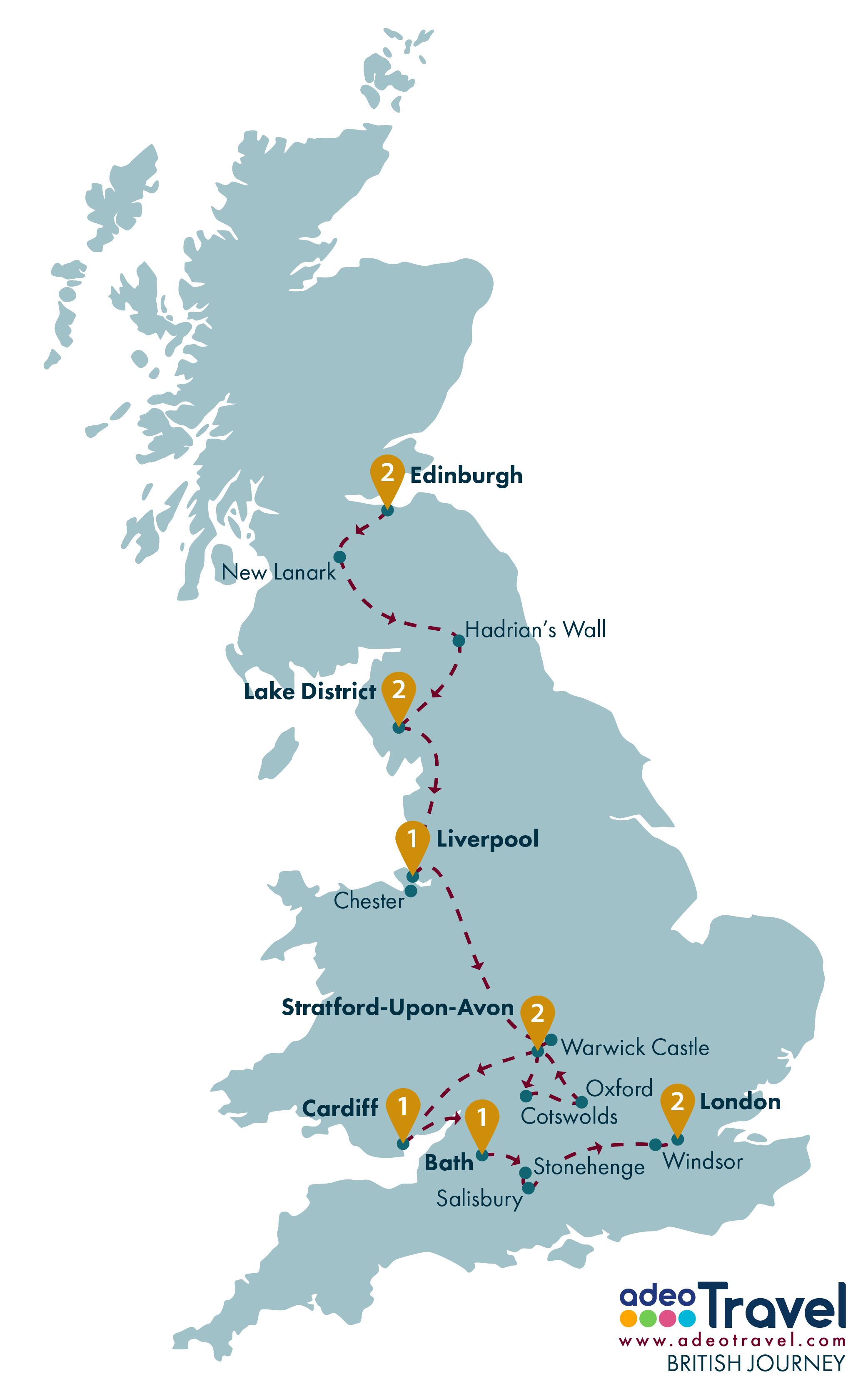 Map Of England Showing London.British Journey Tour Britain Driving Tour Of England Scotland And