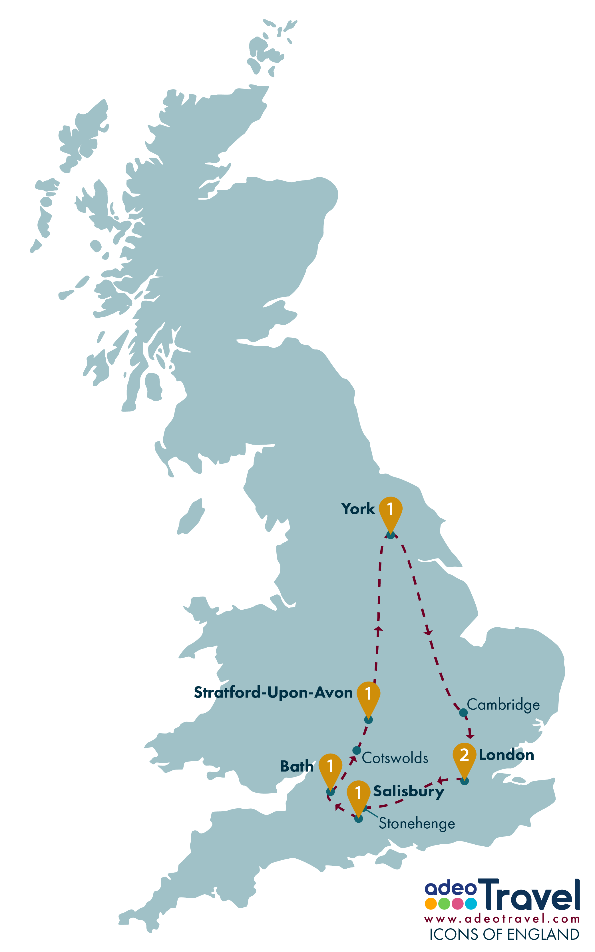 Tour Map - Icons of England