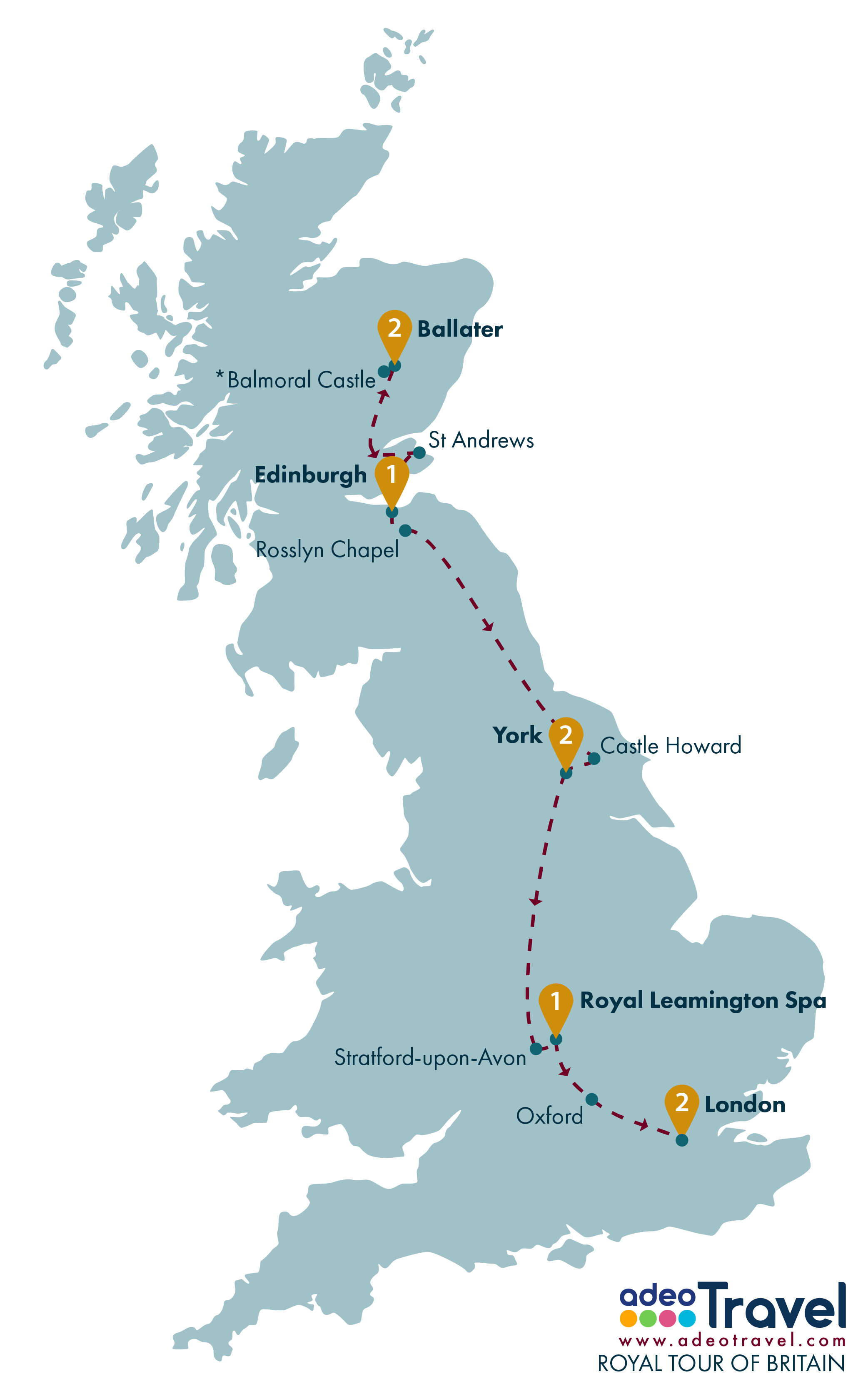 Tour Map - Royal Tour of Britain