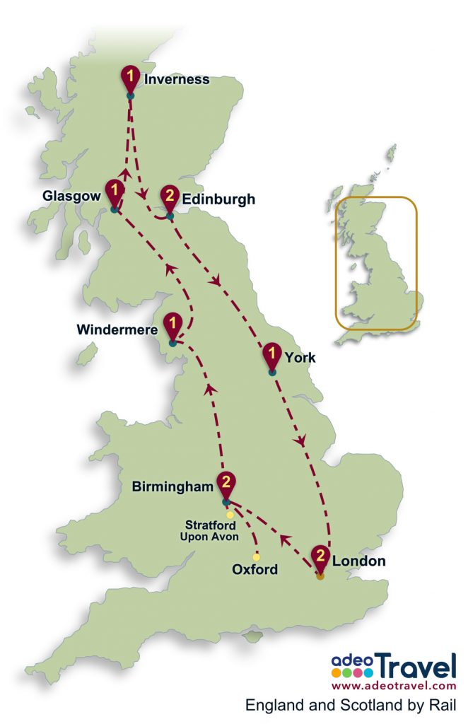 England and Scotland by Rail adeo Travel tailormade tours of