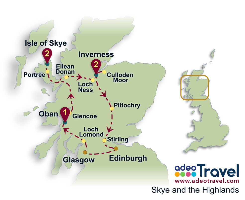 Skye and the Highlands adeo Travel tailormade tours of England