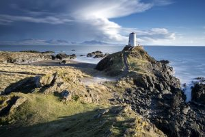 Llanddwyn Lighthouse, Isle of Anglesey, North Wales