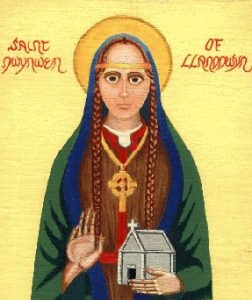 St Dwynwen, Welsh patron saint of lovers