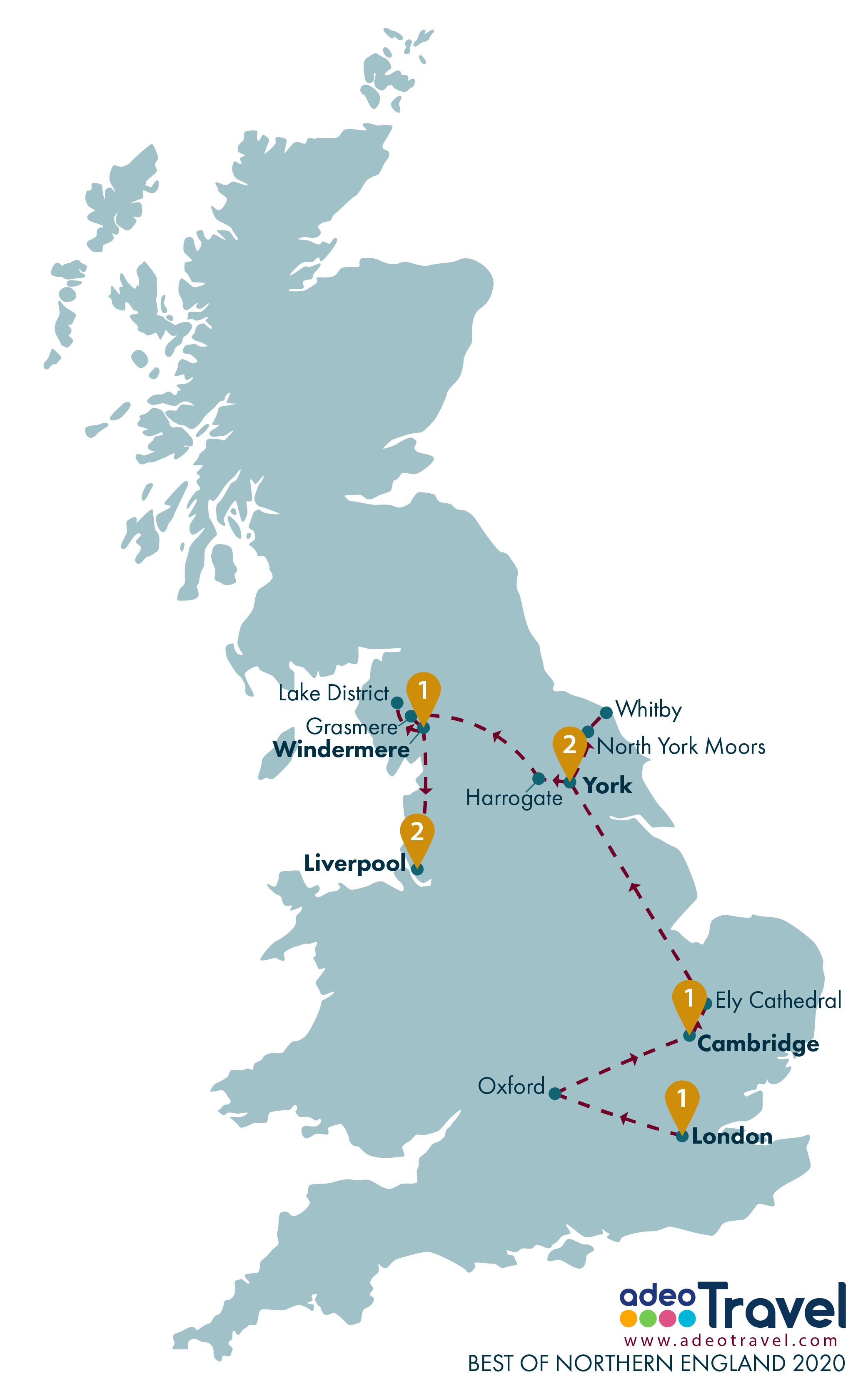 Map - Best of Northern England 2020