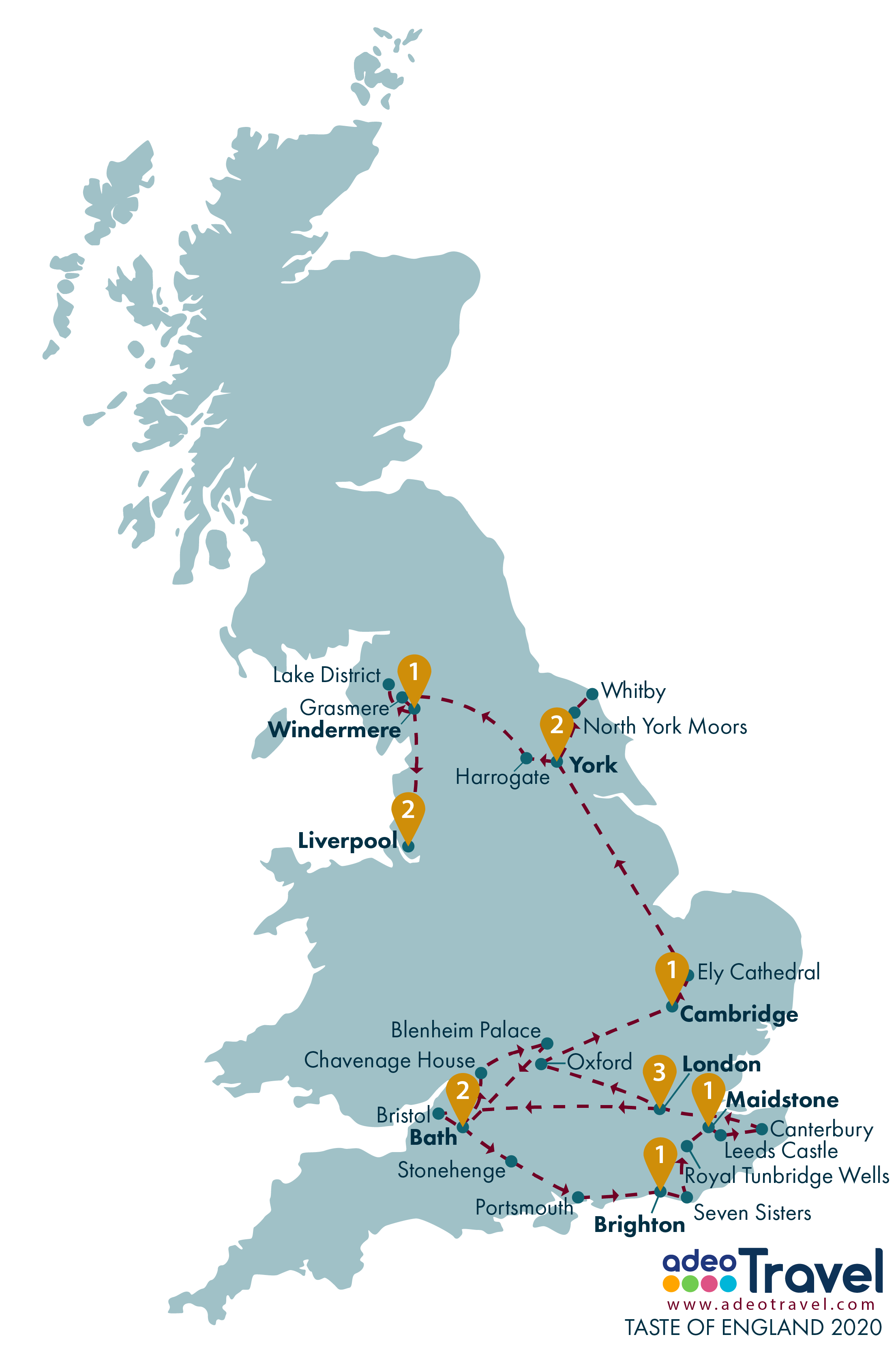 Map - Taste of England 2020