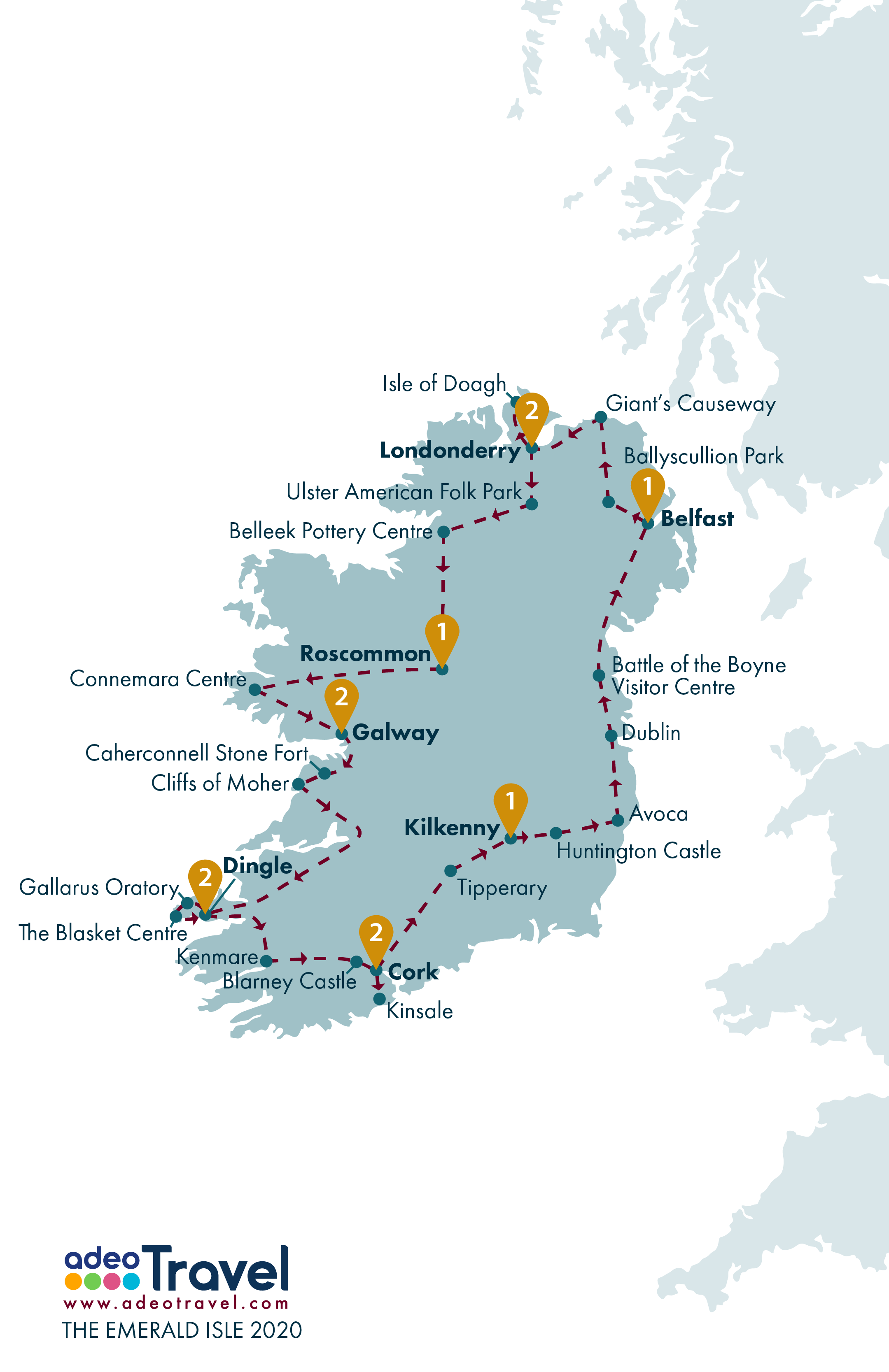 Map - The Emerald Isle 2020