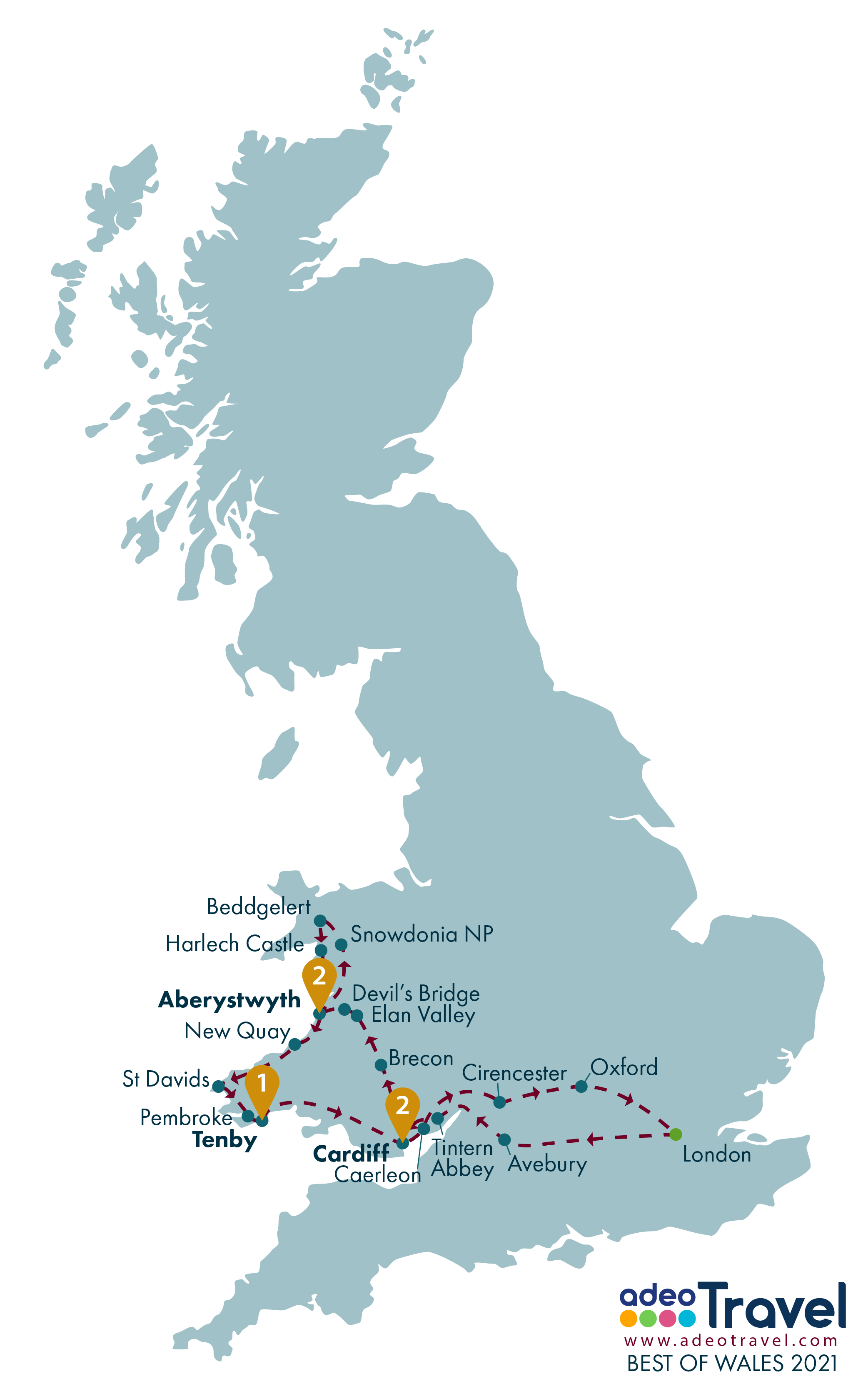 Map - Best of Wales 2021