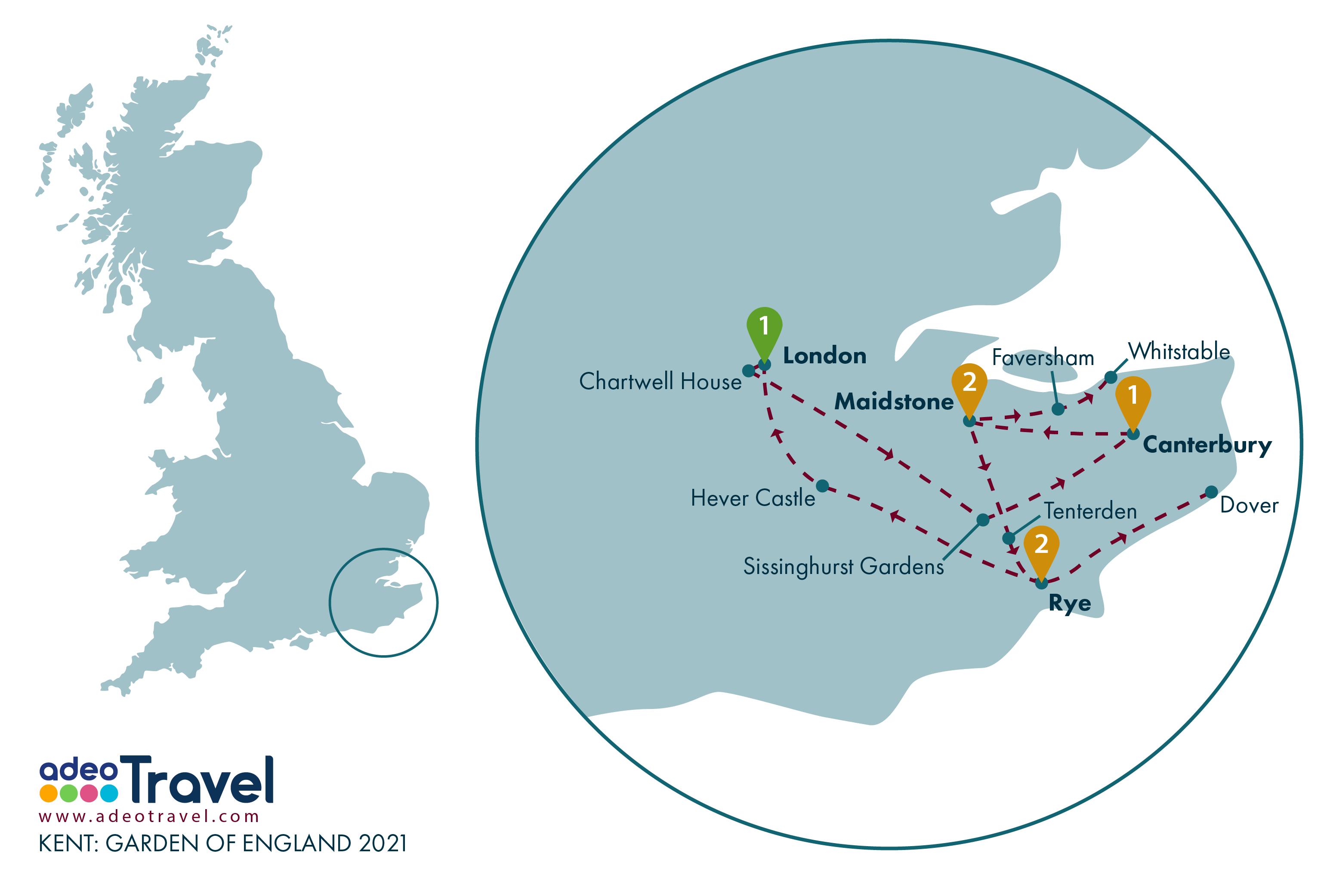 Map - Kent Garden of England 2021