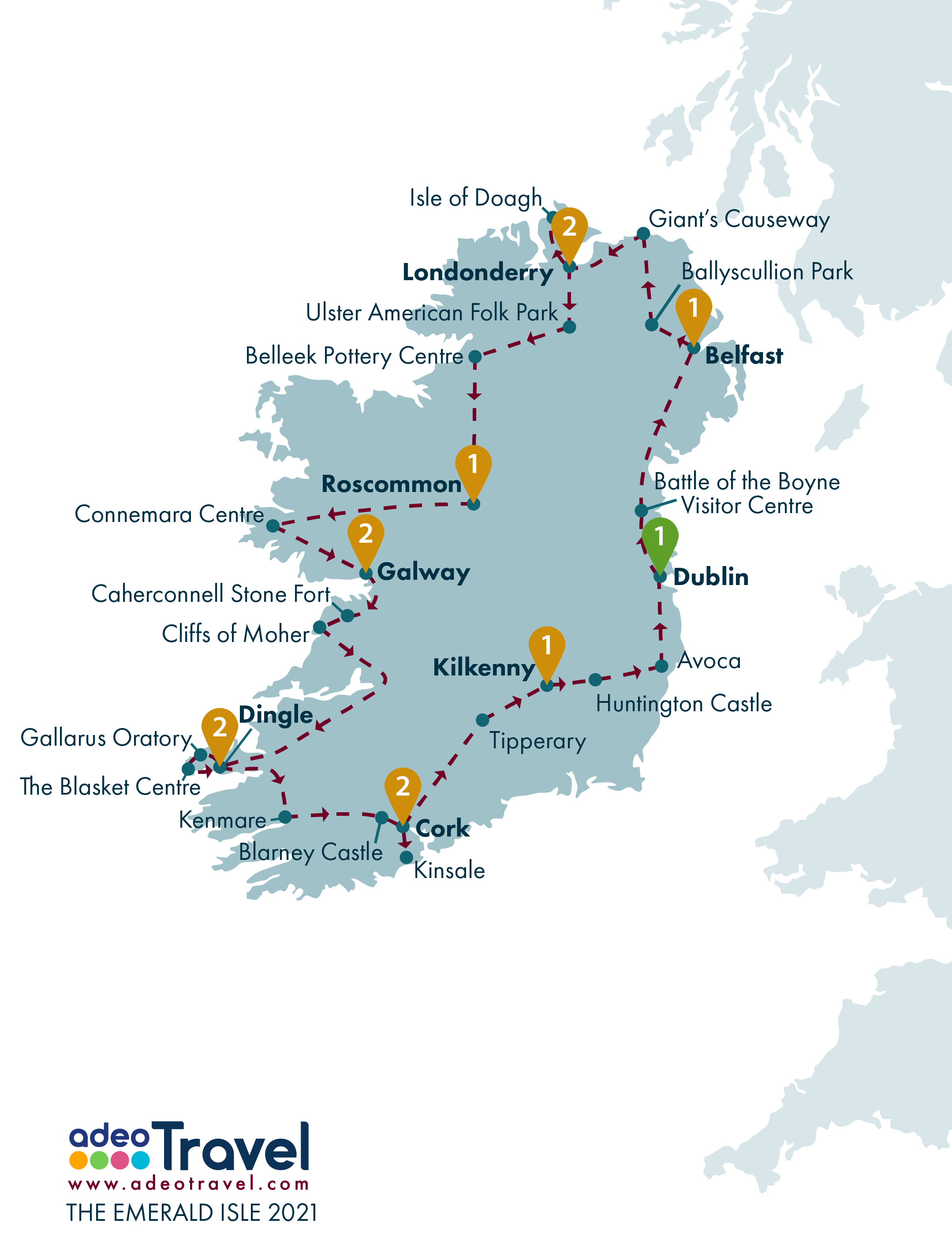 Map - The Emerald Isle 2021
