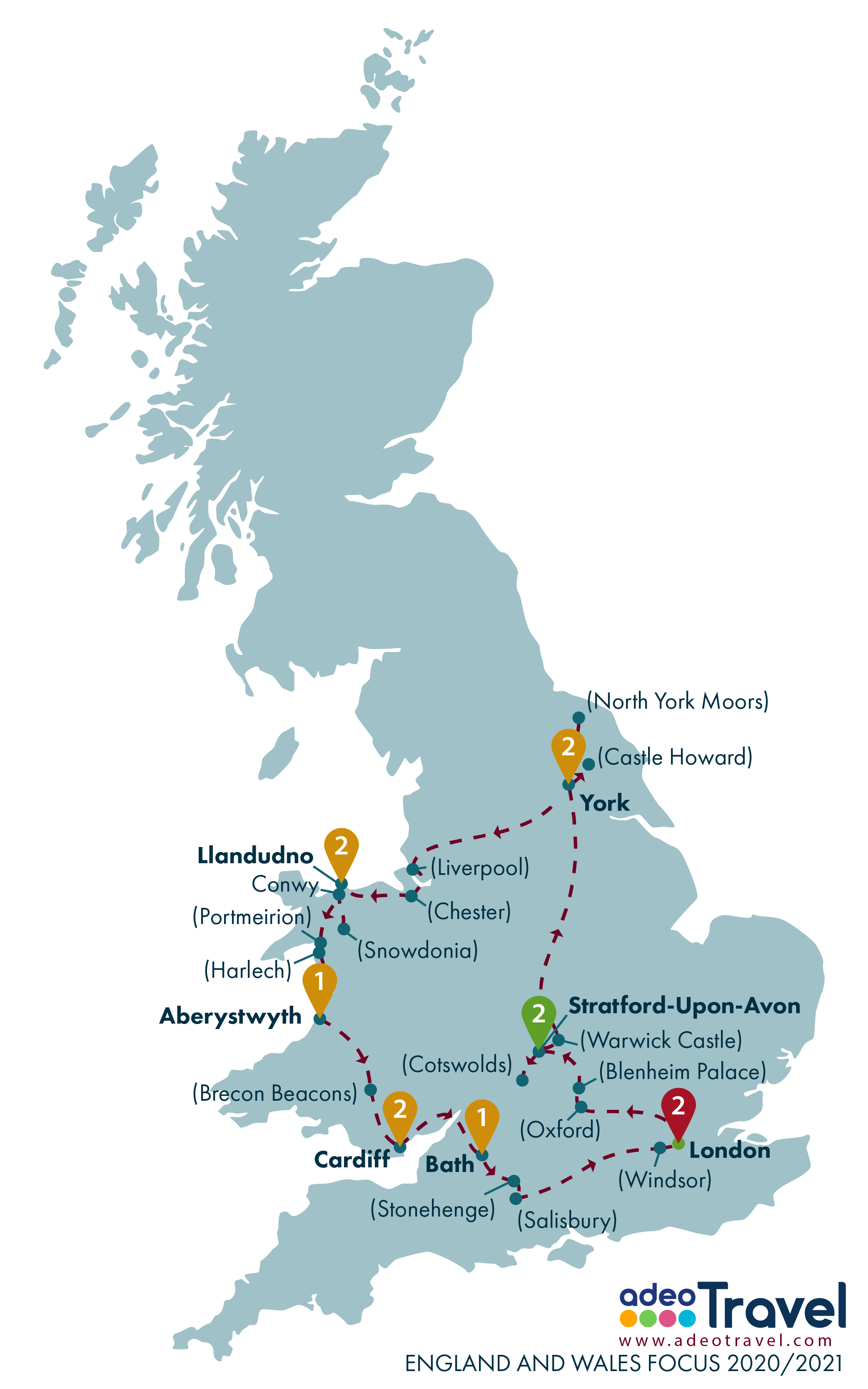 Map - England and Wales Focus 2020 2021