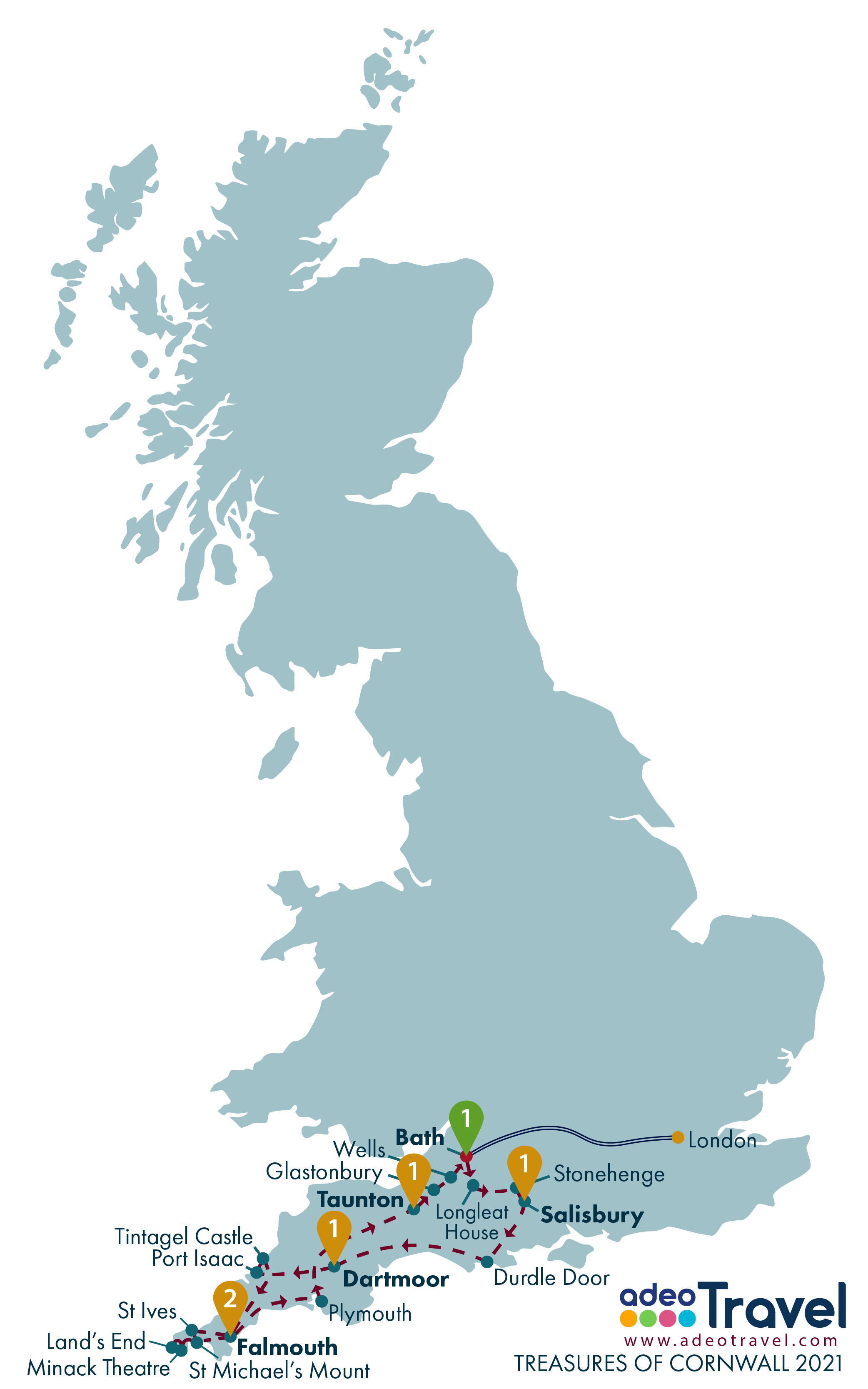 Map - Treasures of Cornwall 2021