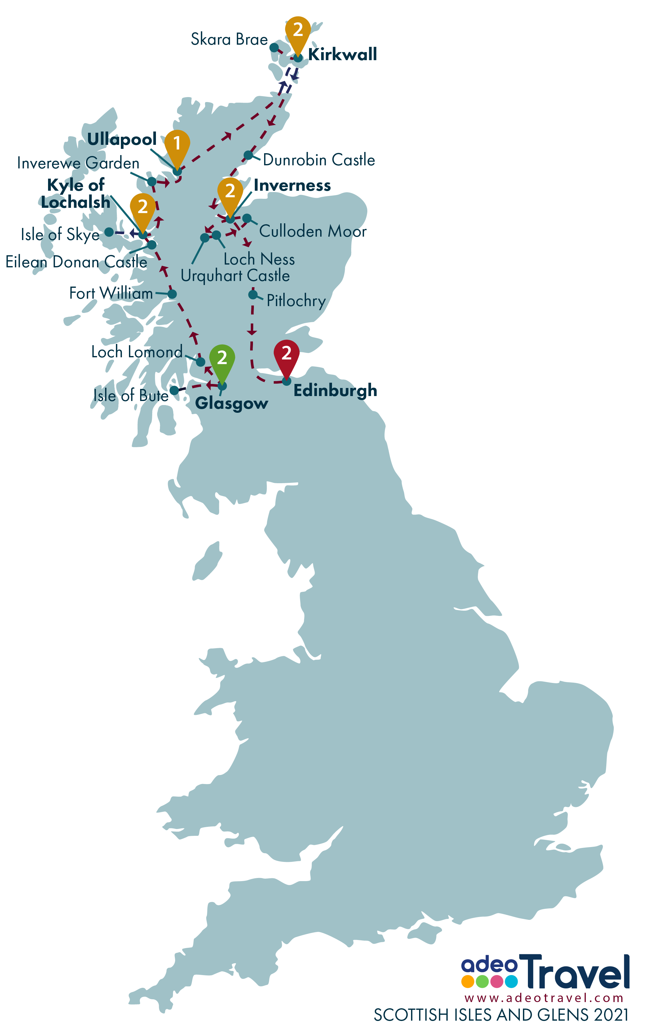 Map - Scottish Isles and Glens 2021