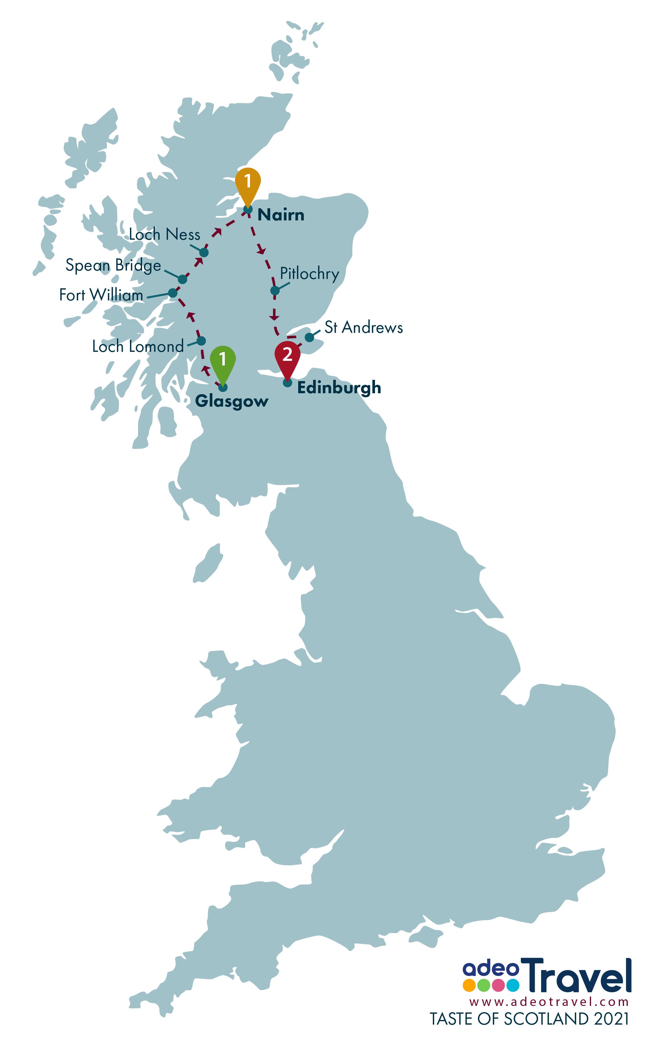 Map - Taste of Scotland 2021