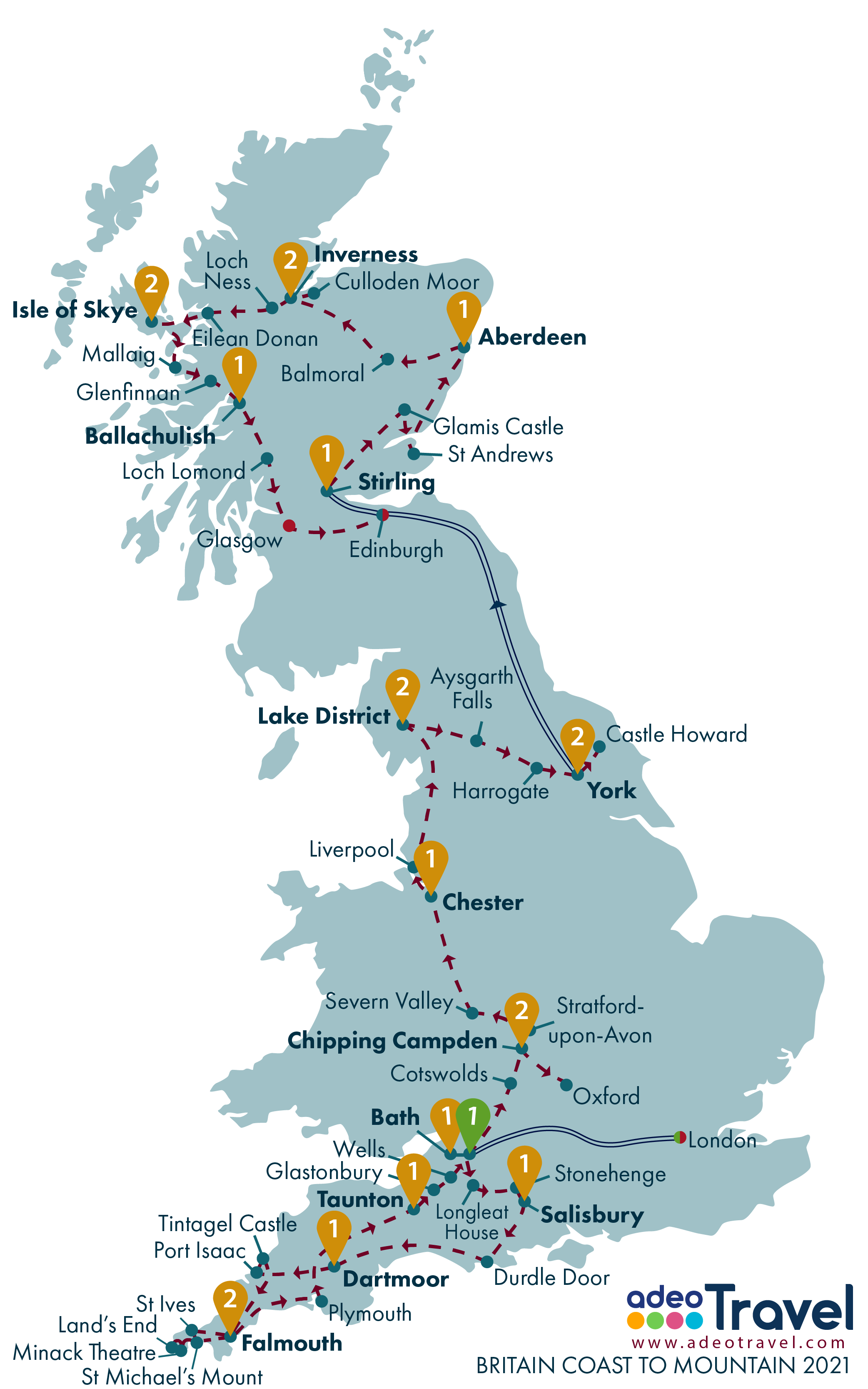 Map - Britain Coast to Mountain 2021