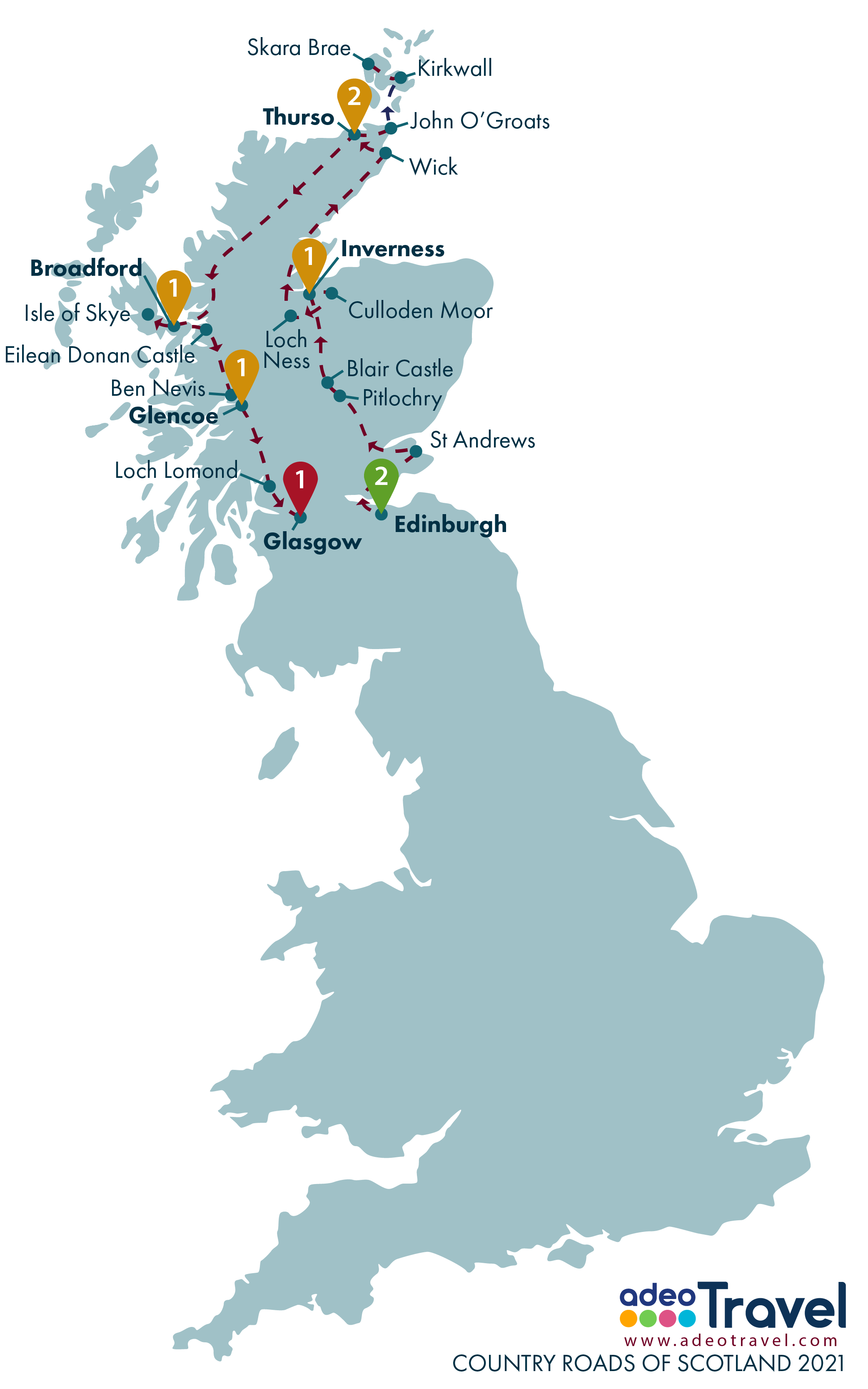 Map - Country Roads of Scotland 2021