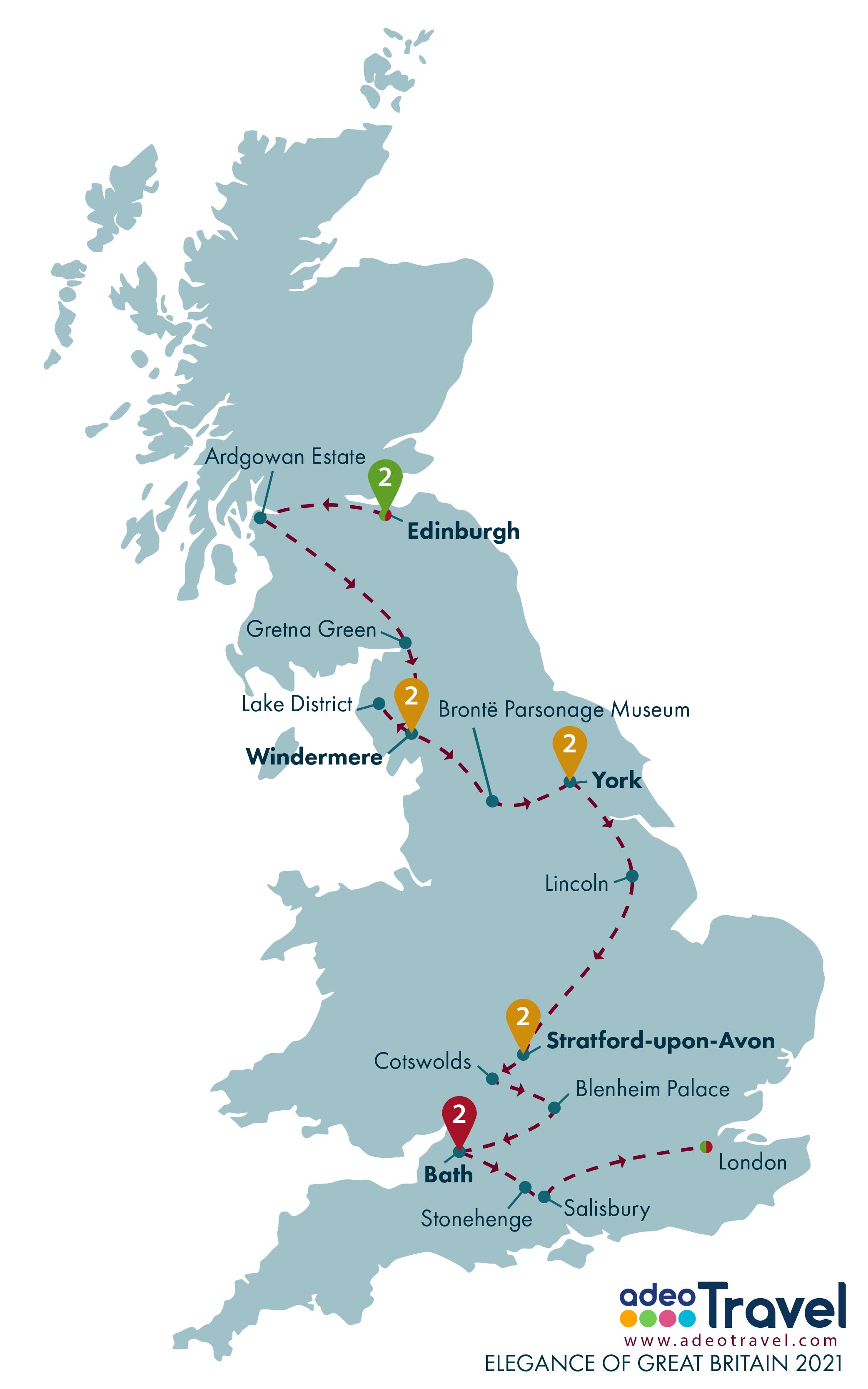 Map - Elegance of Great Britain 2021