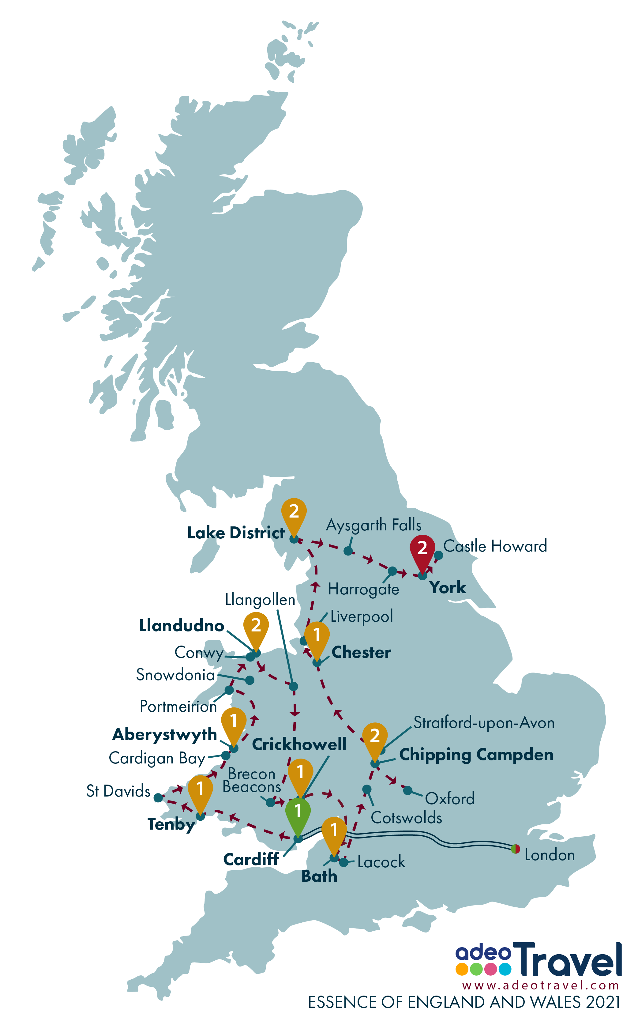 Map - Essence of England and Wales 2021
