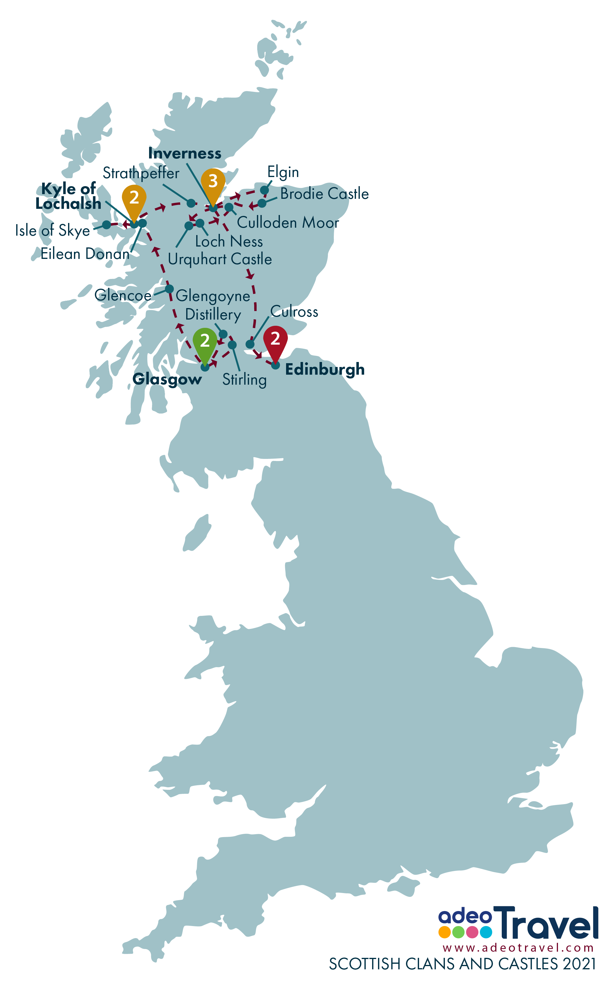 Map - Scottish Clans and Castles 2021