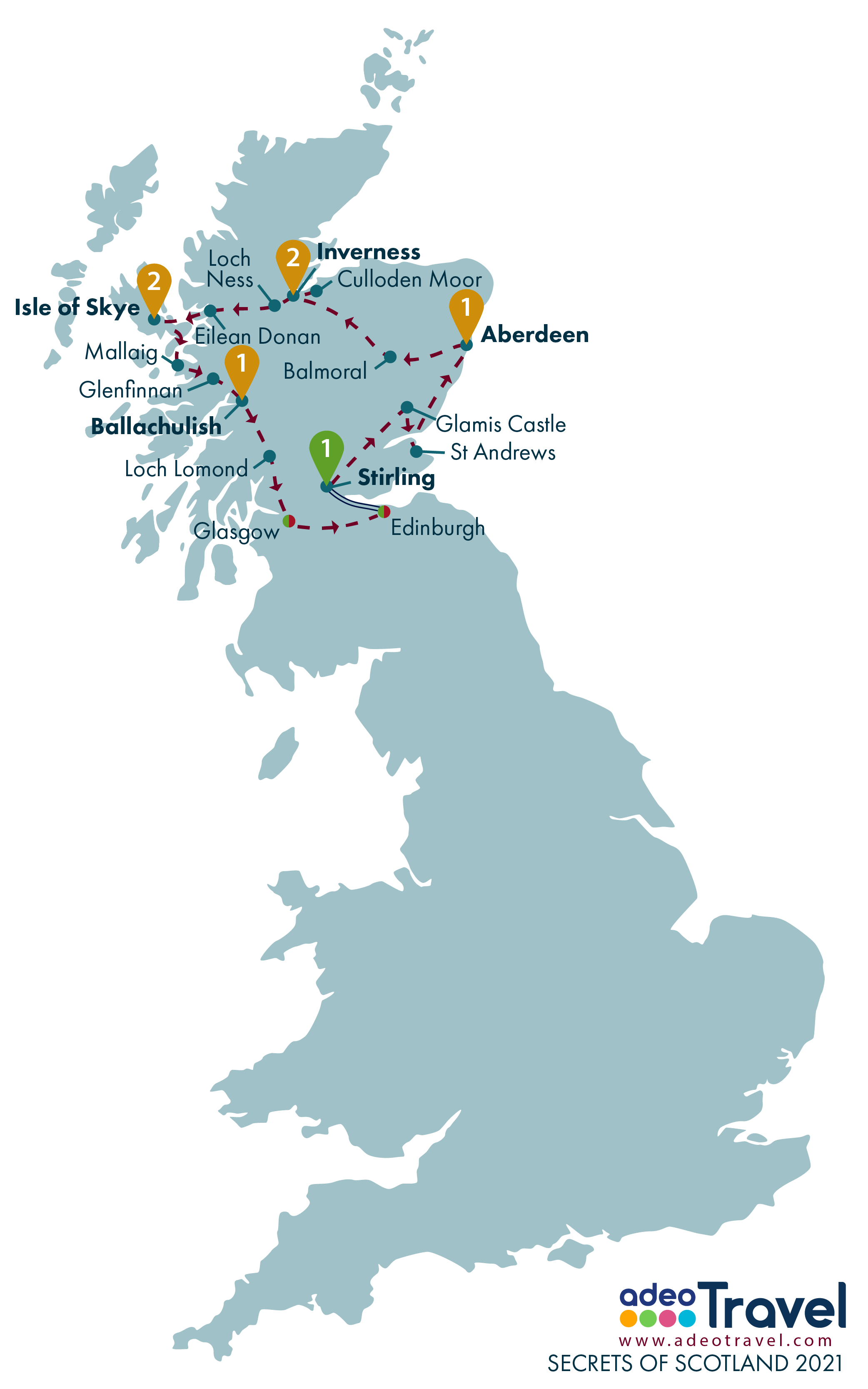 Map - Secrets of Scotland 2021