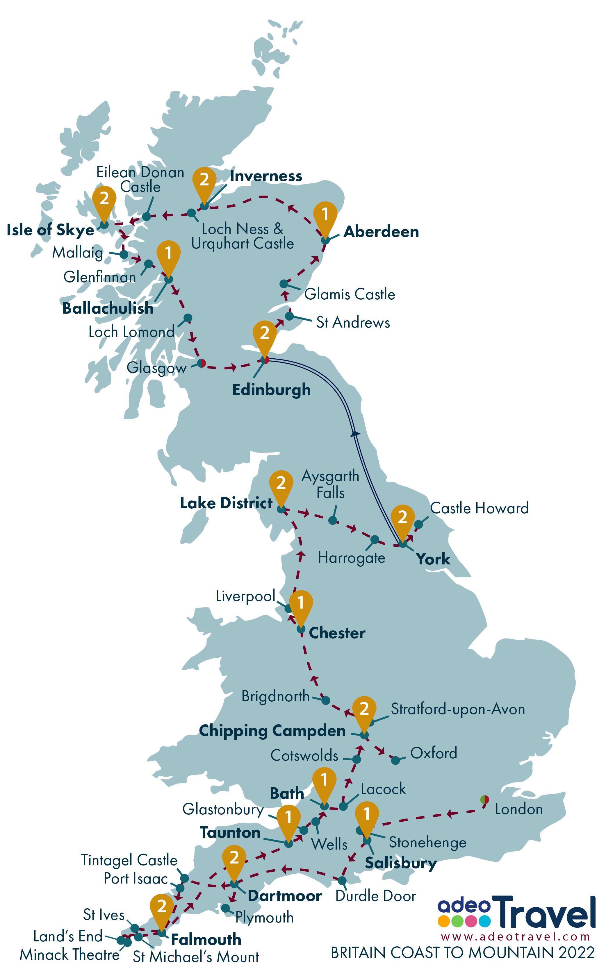 Map - Britain Coast to Mountain 2022