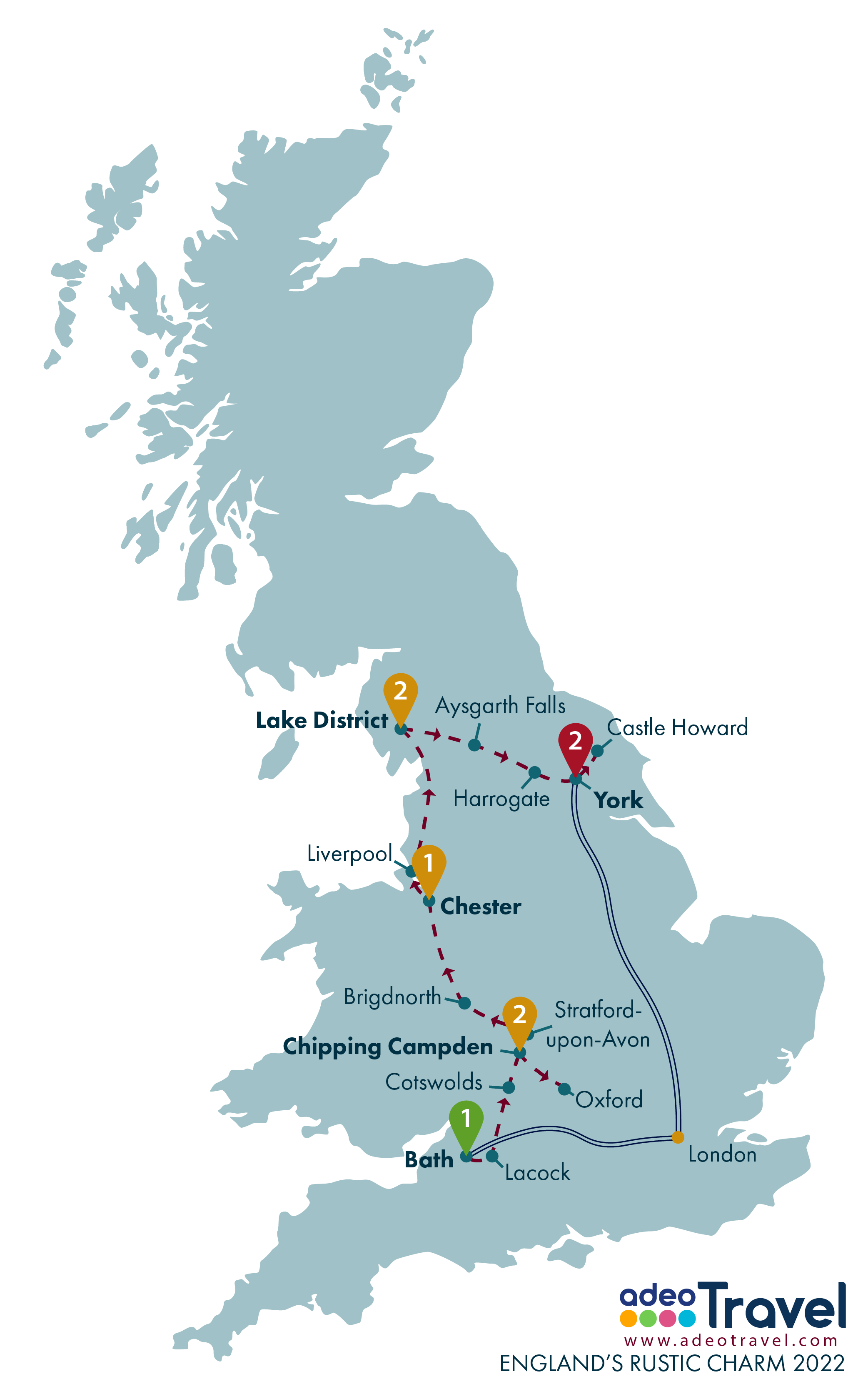 Map - England's Rustic Charm 2022