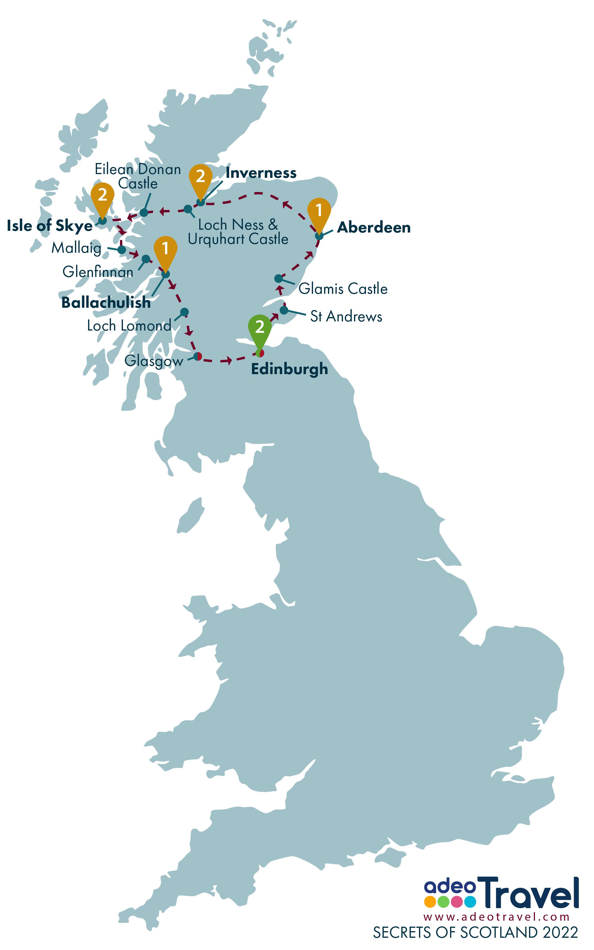 Map - Secrets of Scotland 2022