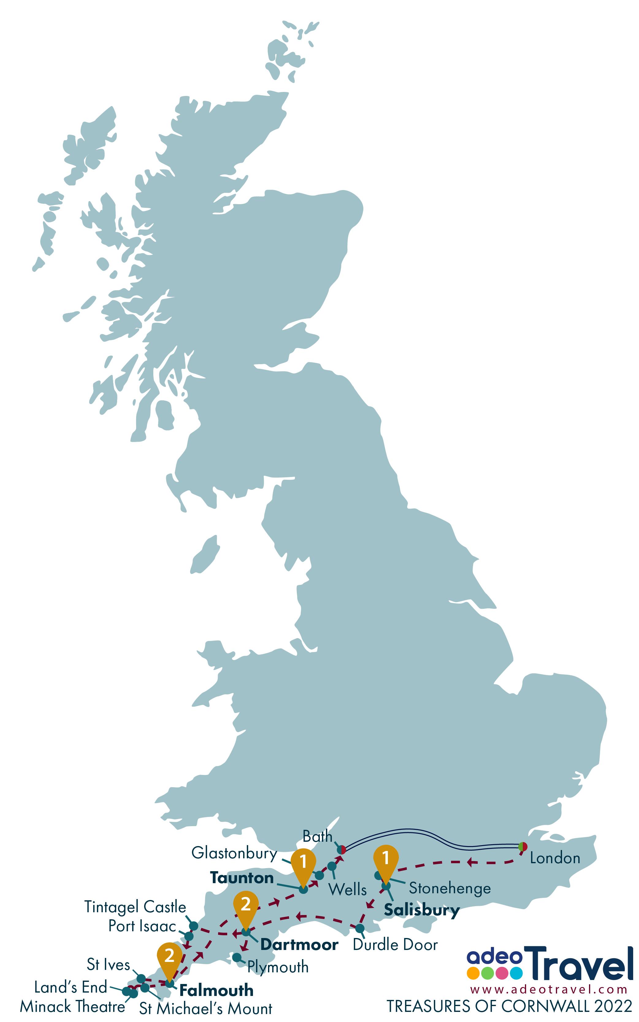 Map - Treasures of Cornwall 2022