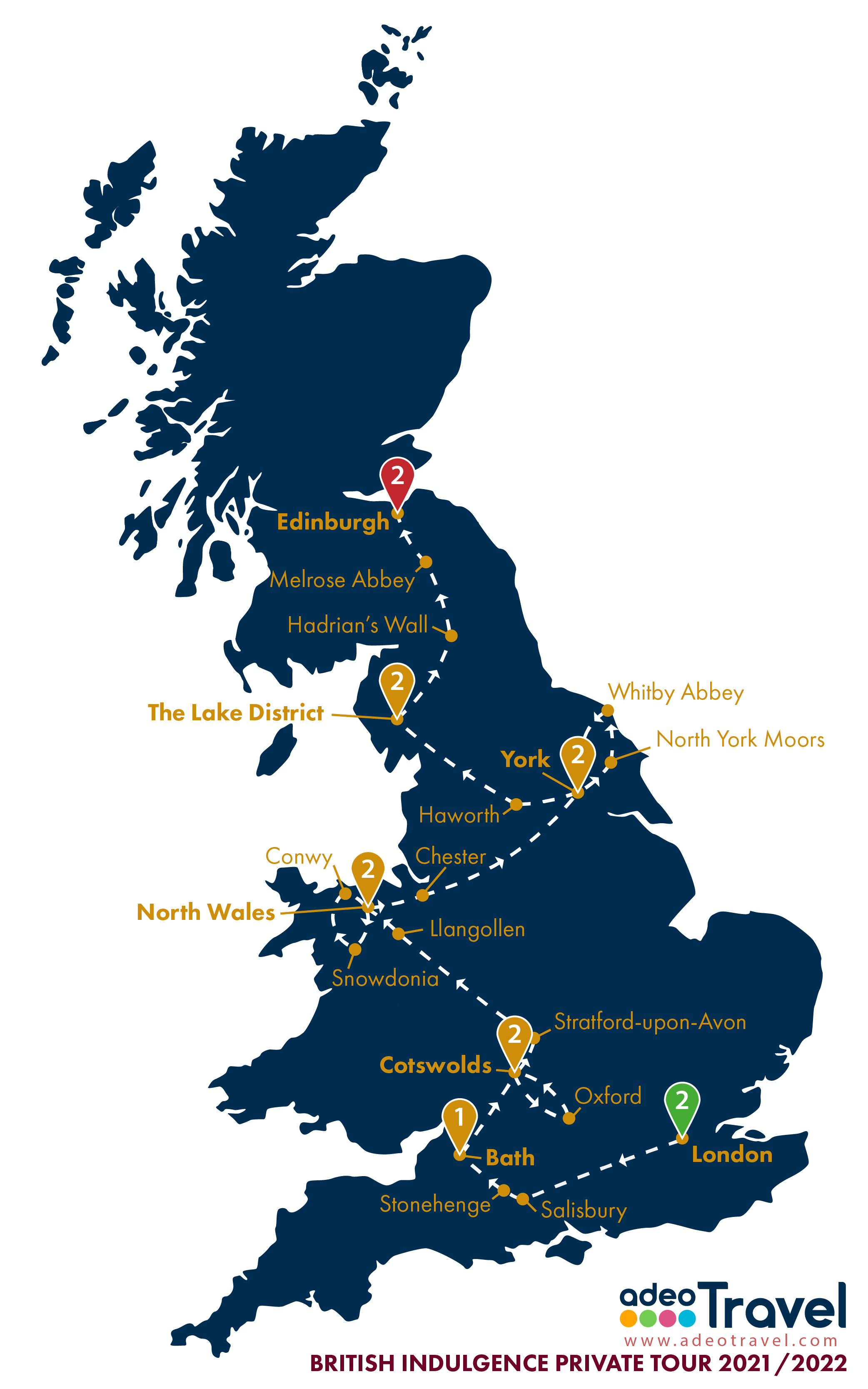 Map - British Indulgence 2021 2022