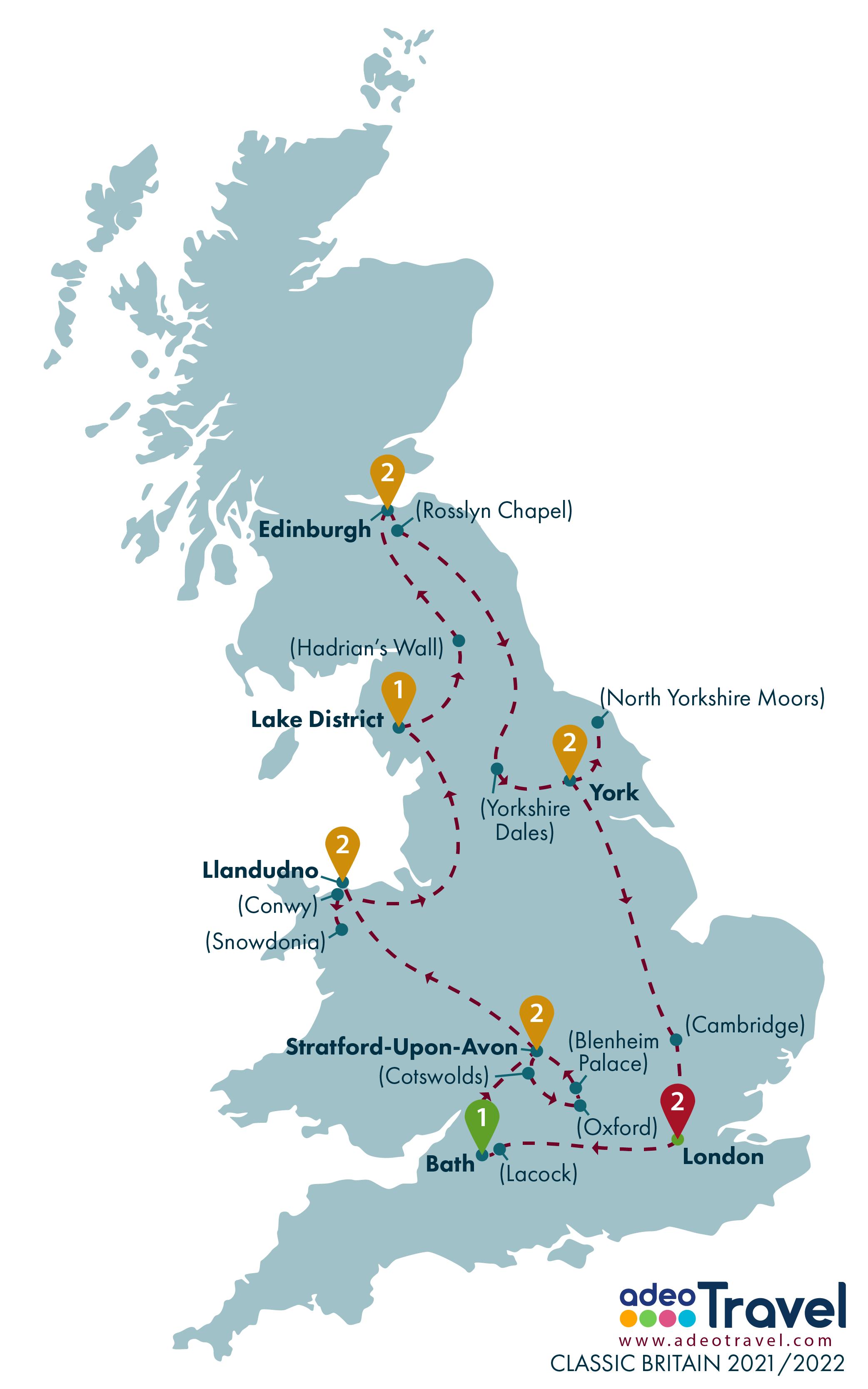 Map - Classic Britain 2021 2022