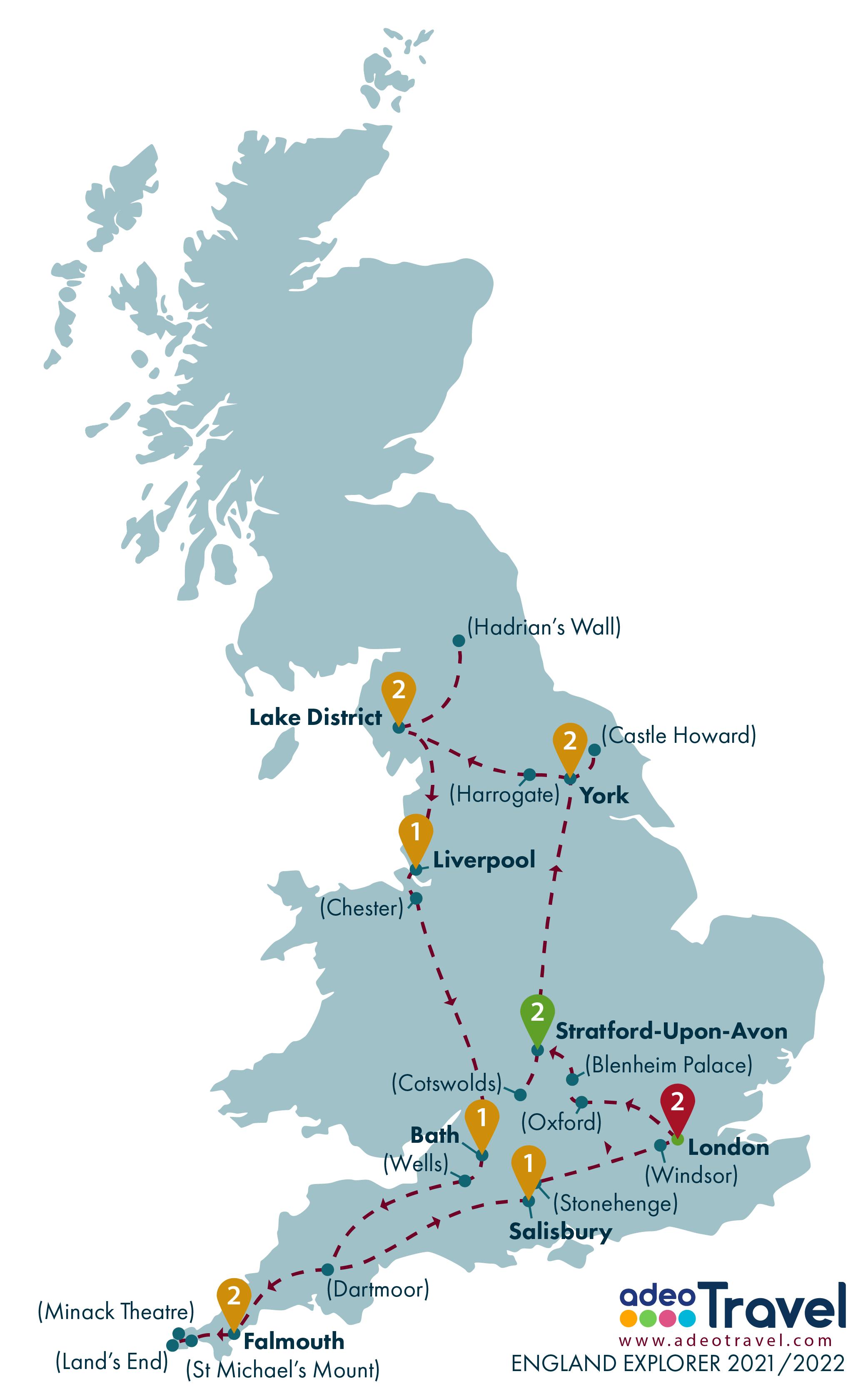 Map - England Explorer 2021 2022