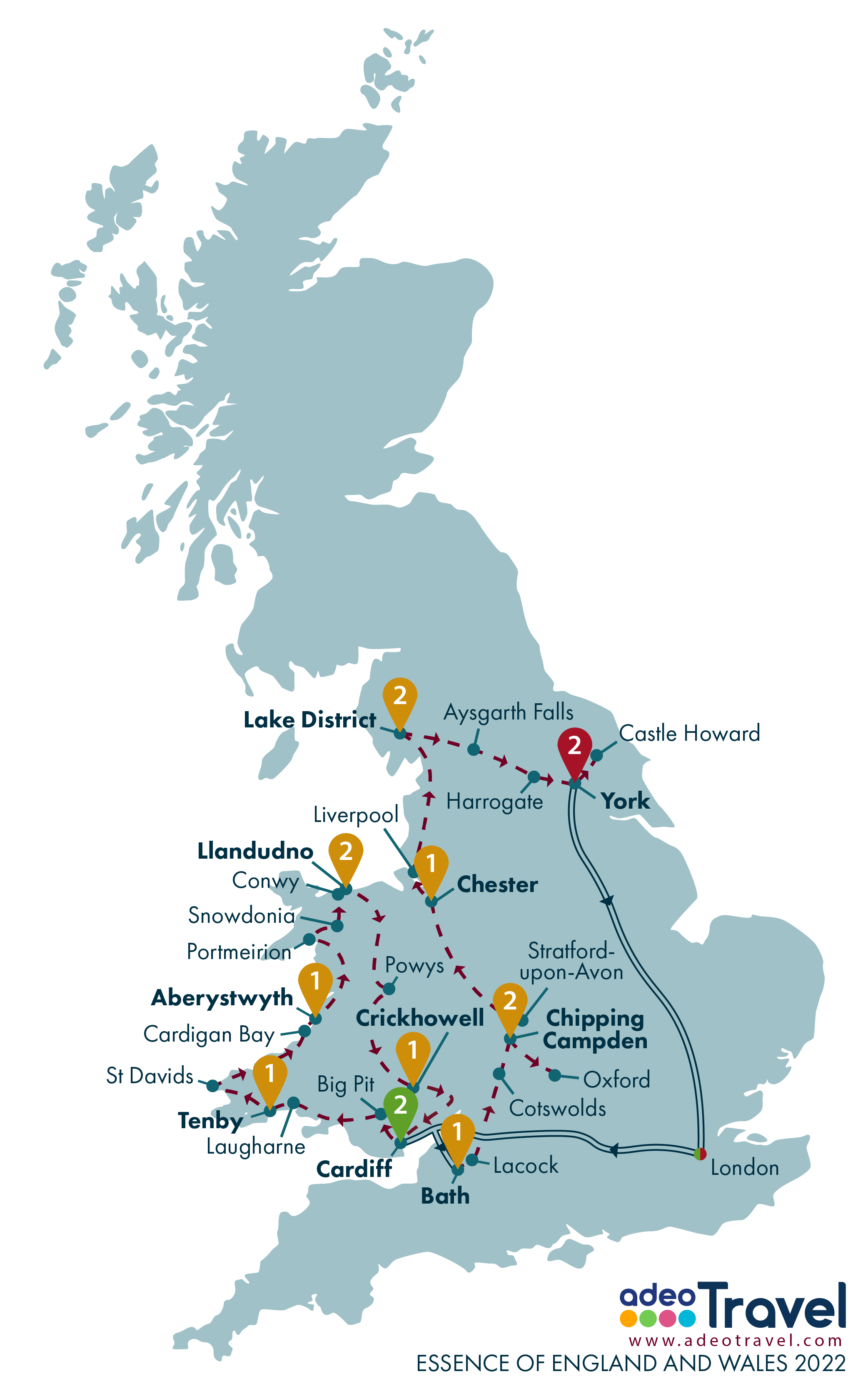 Map - Essence of England and Wales 2022