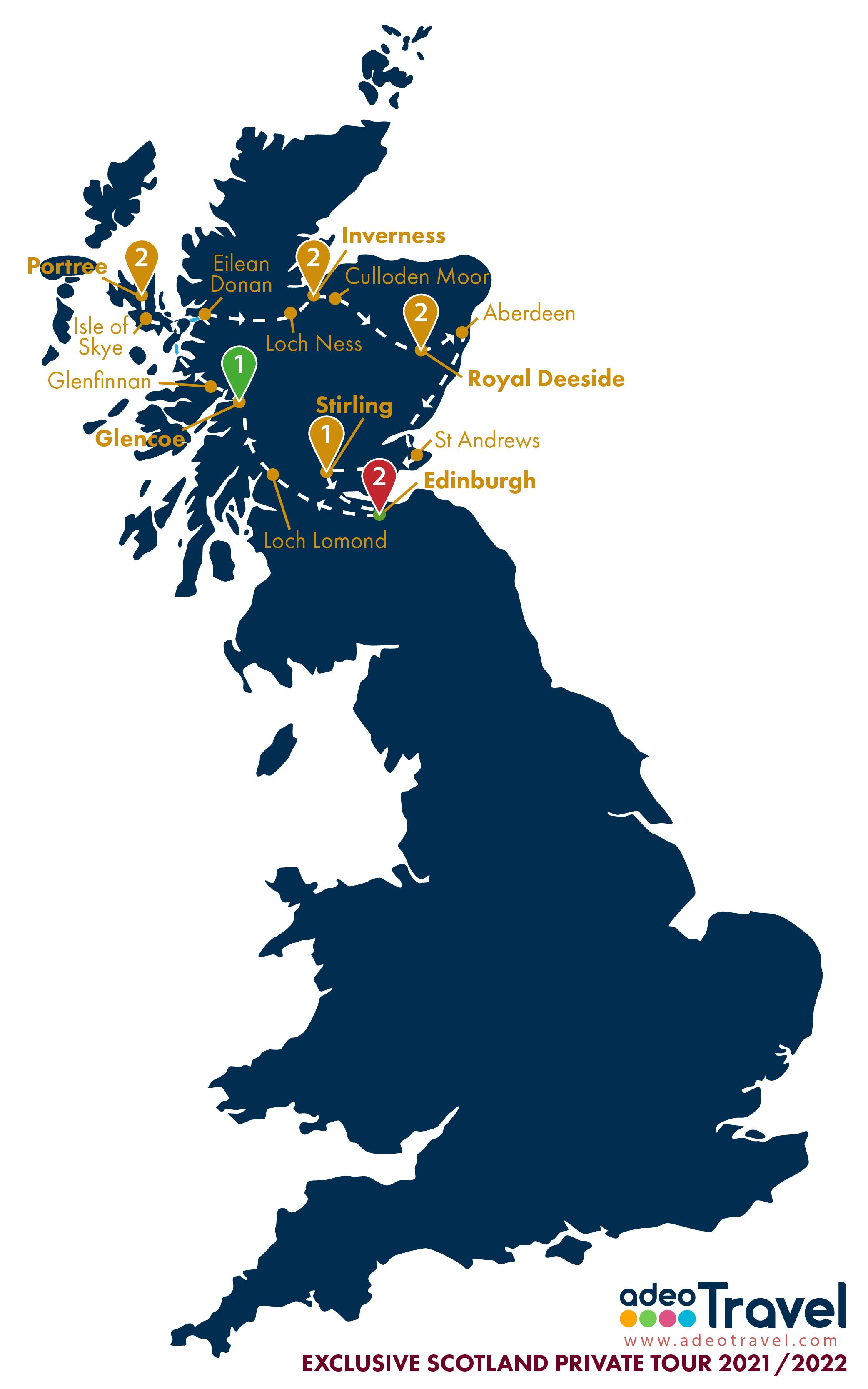 Map - Exclusive Scotland 2021 2022