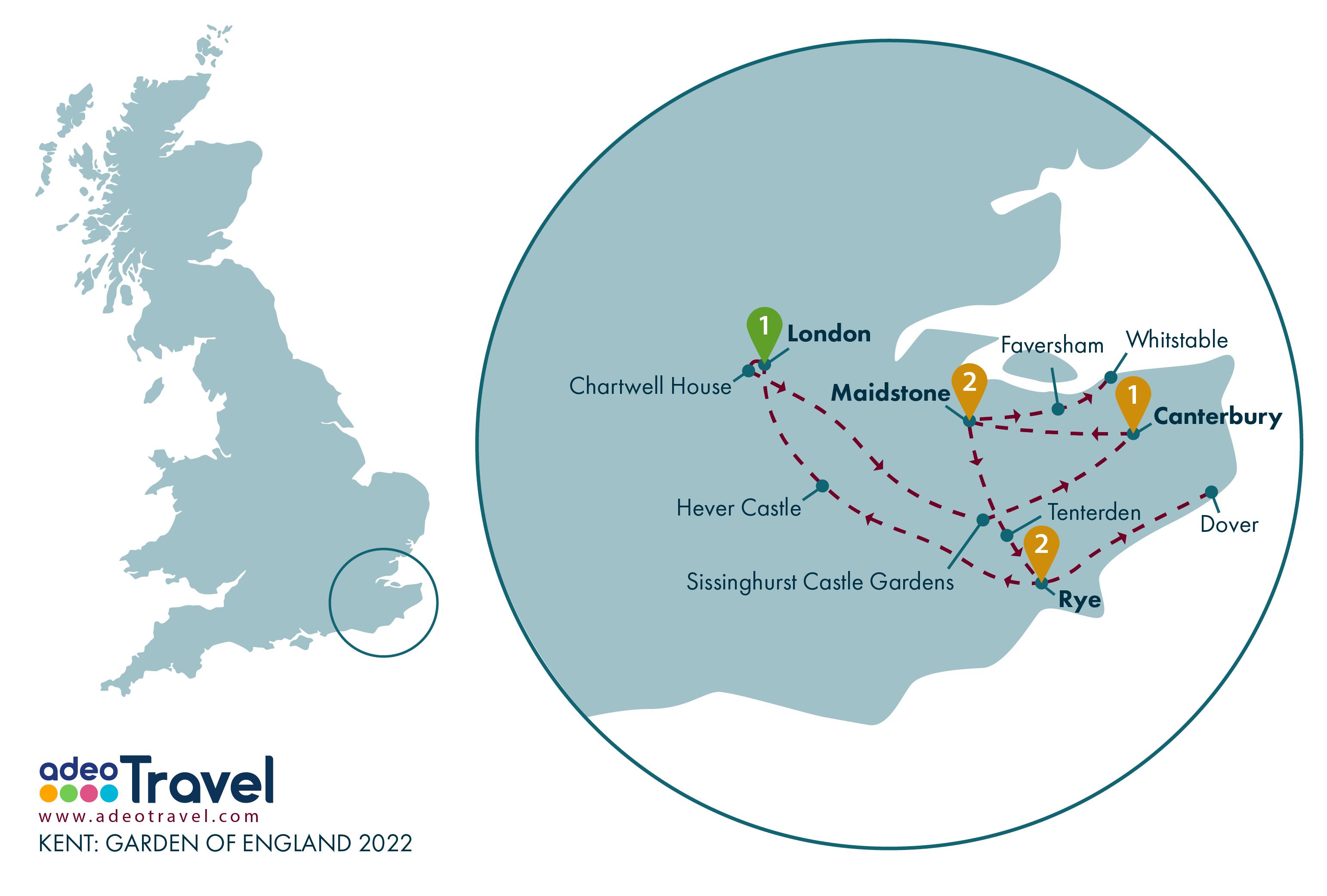 Map - Kent Garden of England 2022