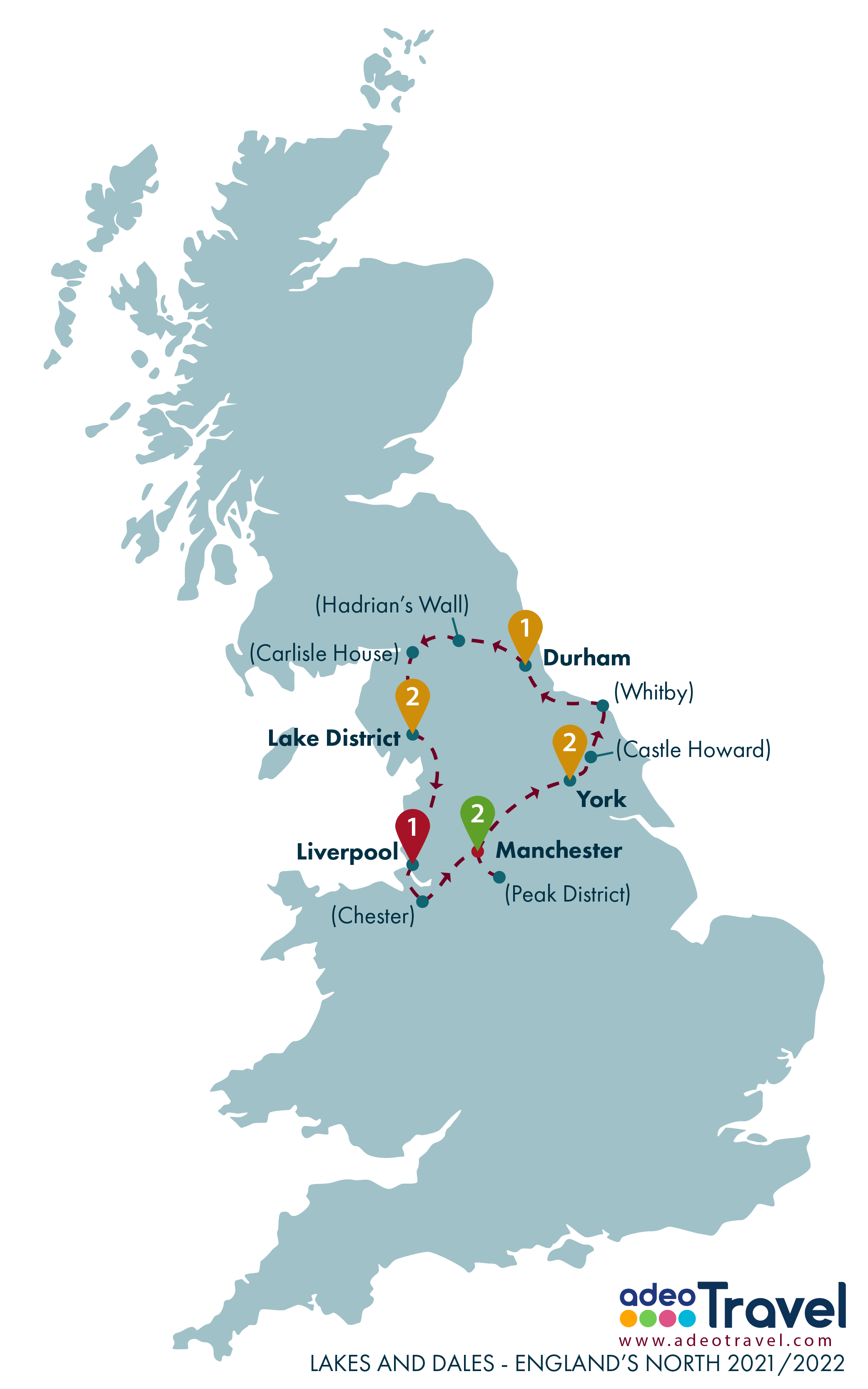Map - Lakes and Dales - Englands North 2021 2022