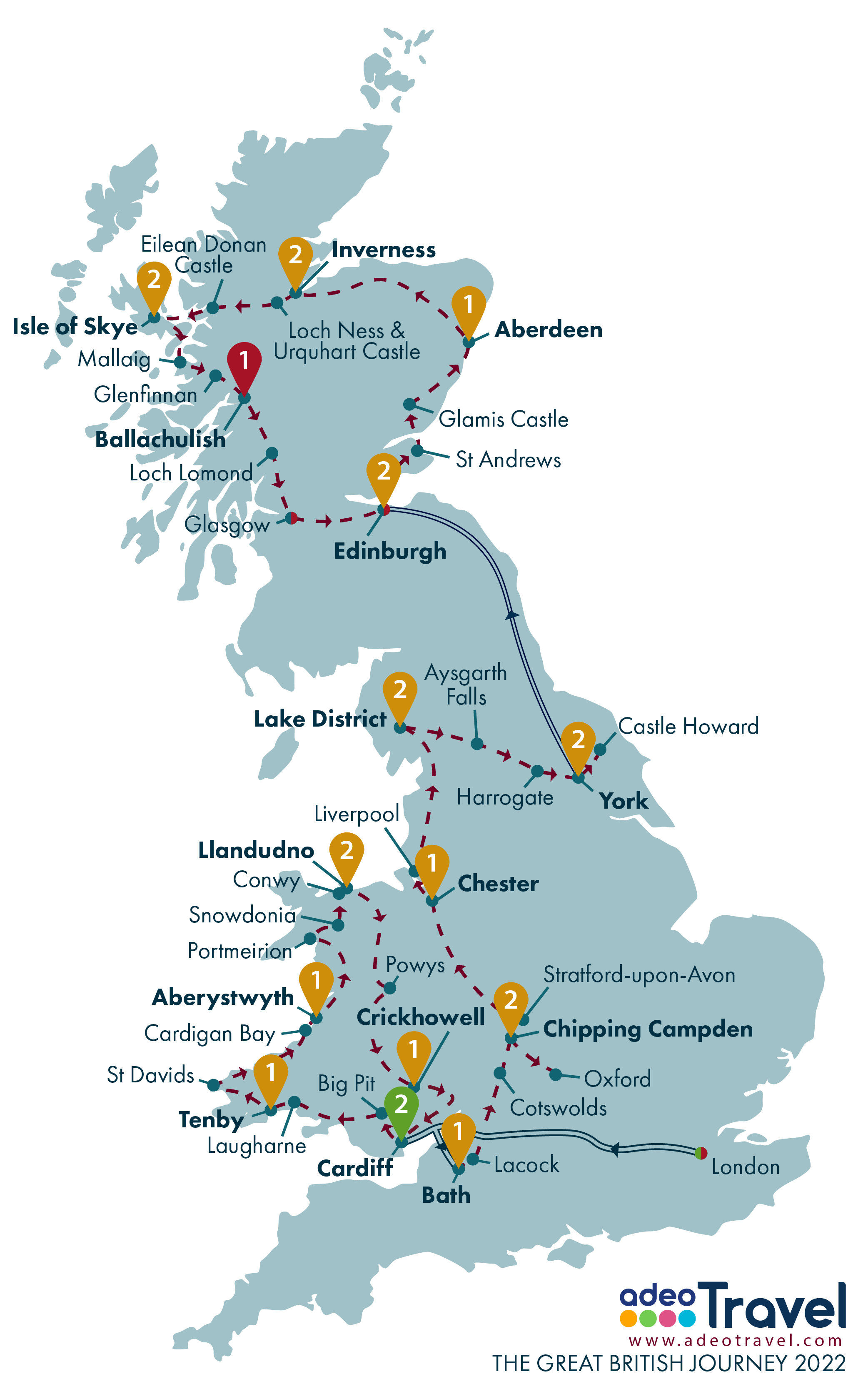 Map - The Great British Journey 2022