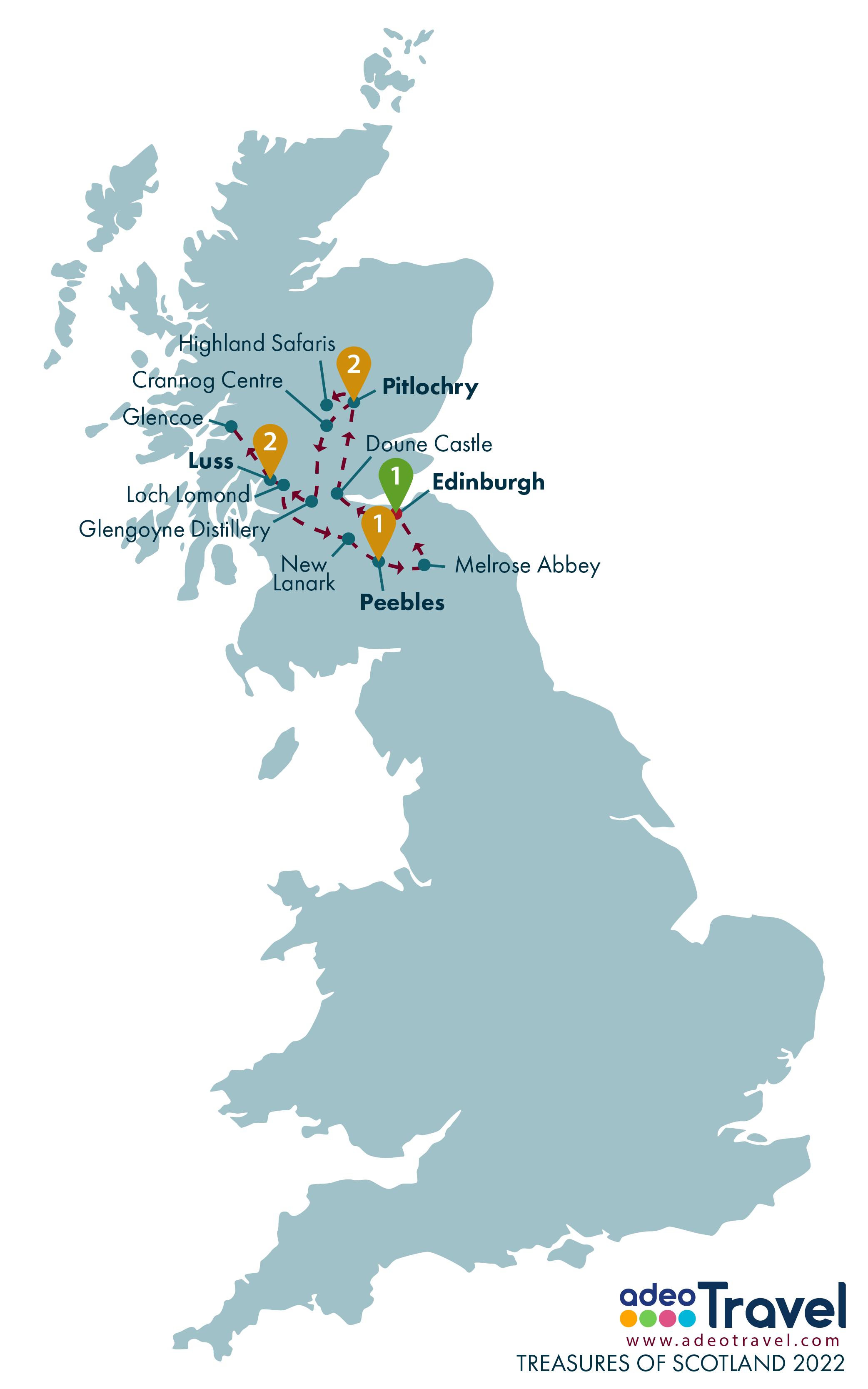 Map - Treasures of Scotland 2022