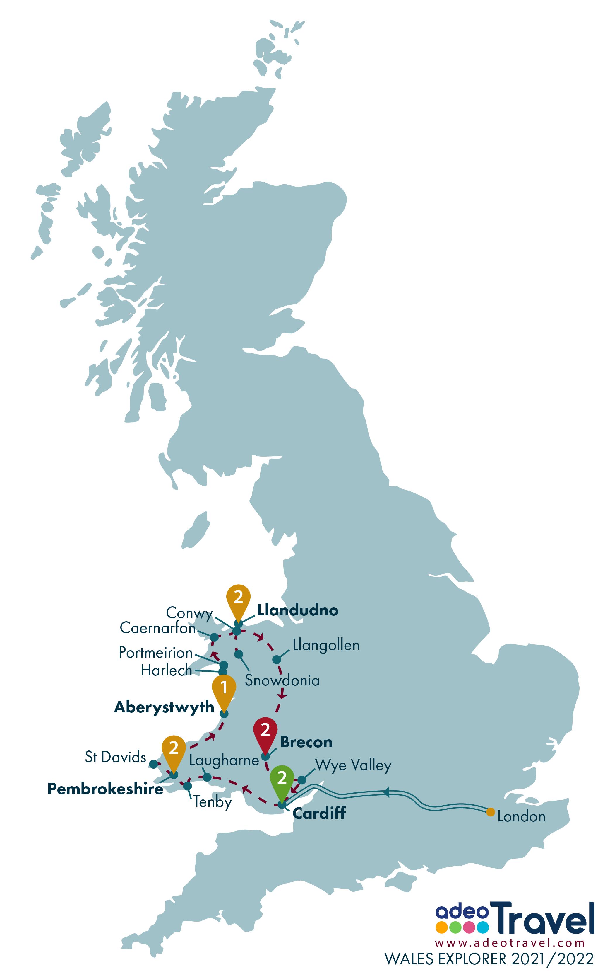 Map - Wales Explorer 2021 2022
