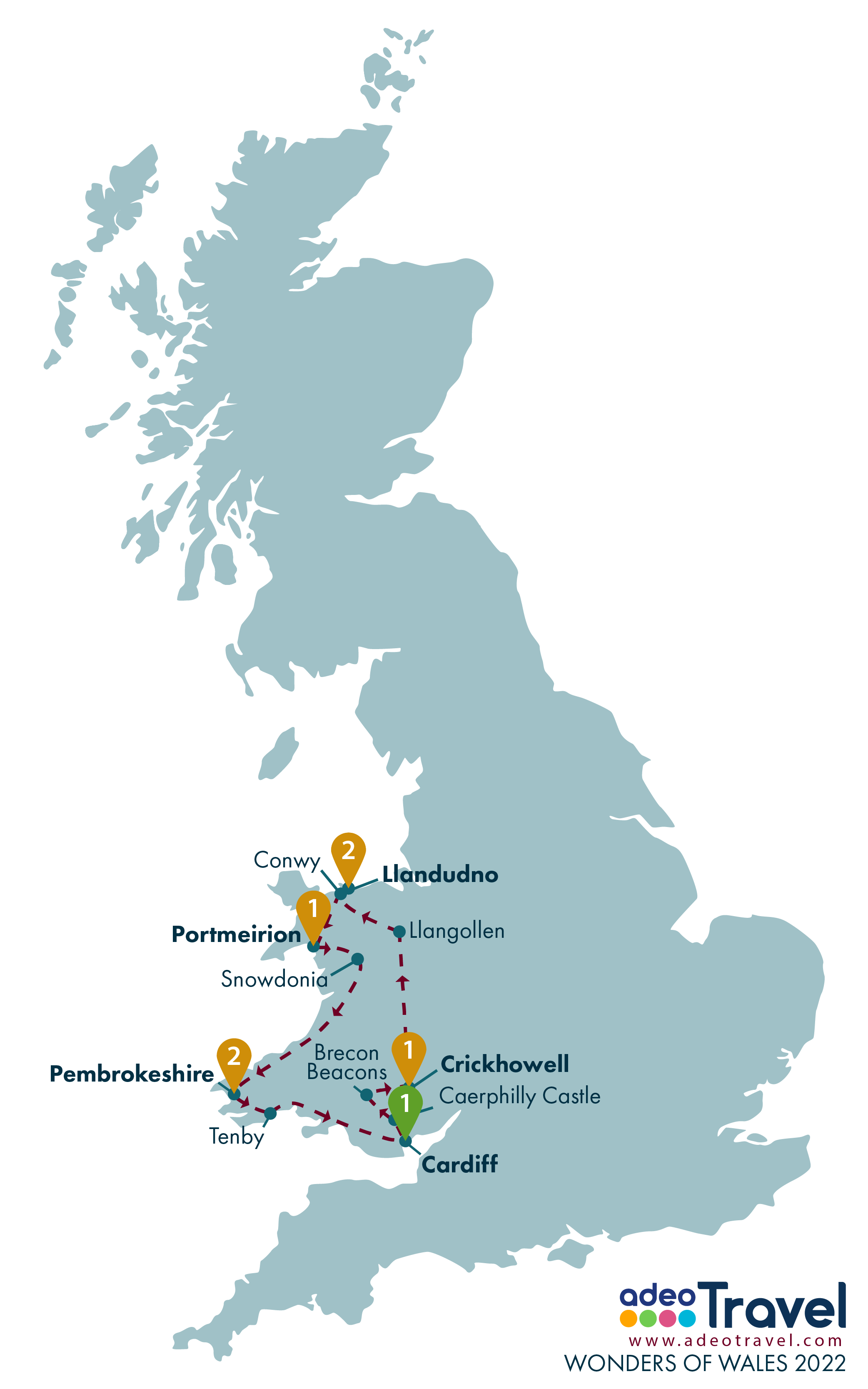 Map - Wonders of Wales 2022