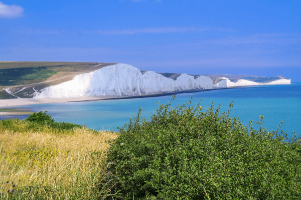 Seven Sisters White Cliffs, Dover, England